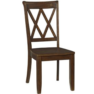 Vintage Dining Side Chair With X Back By Standard Furniture