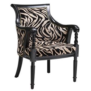 accent chairs zebra print barrel arm chair by stein world - Decorative Chairs