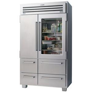PRO 48 Refrigeration Professional Series 30.1 Cu. Ft. French Door  Refrigerator With Glass Door By Sub Zero