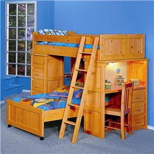 Trendwood Bunkhouse Twin Futon Bunk Bed