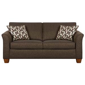 Simmons upholstery 7251 queen size sofa sleeper in casual for Furniture hermiston or