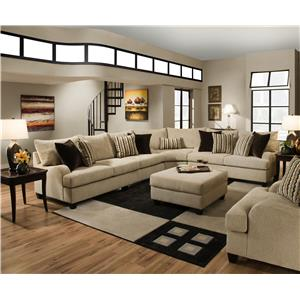 United Furniture Industries Sectional Sofas Store American