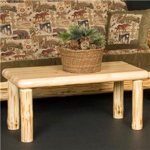 Wilderness Rustic Rectangular Coffee Table By Viking Log Furniture