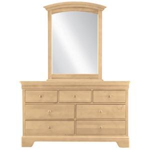 All Seasons Dresser U0026 Arch Top Mirror By Young America