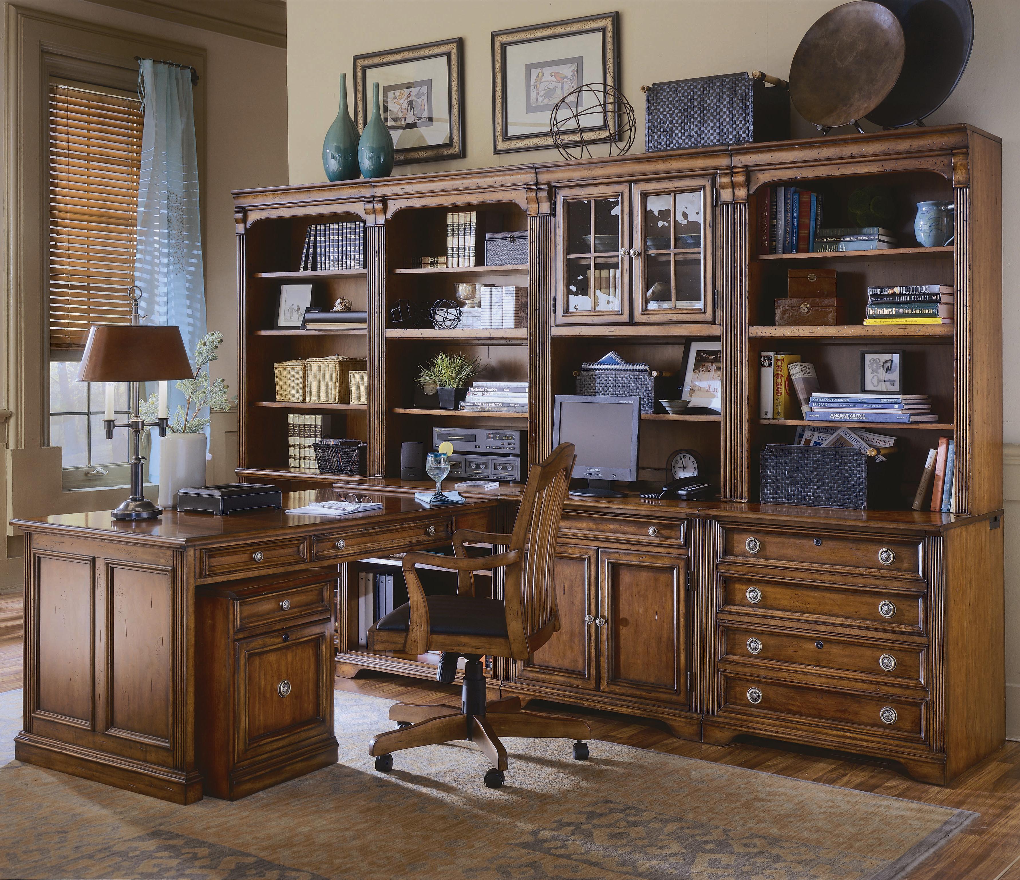 Shown With Computer Desk Hutch Open Hutch Right Bookcase Left