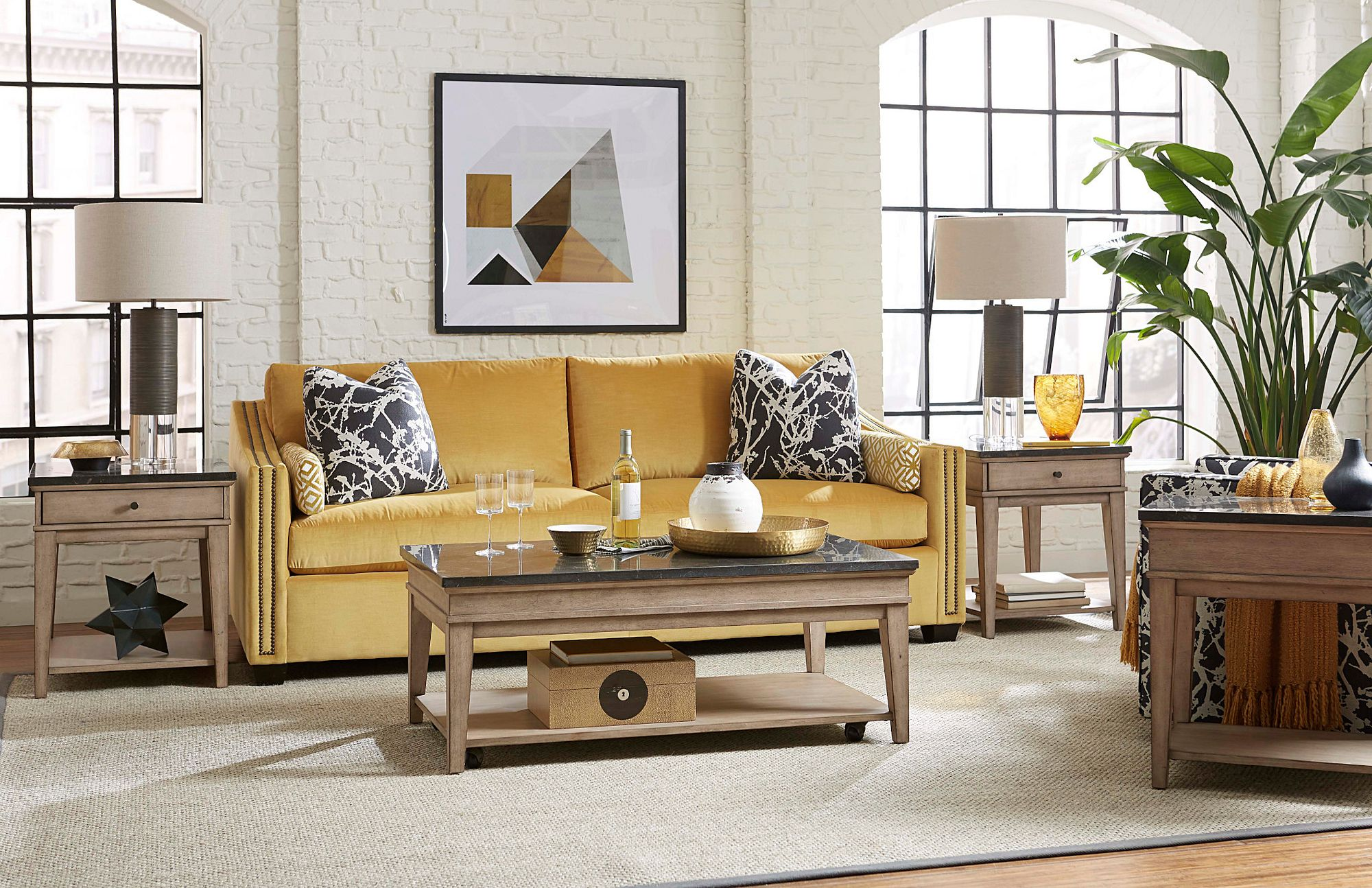 Riverstone Rectangular End Table by Hammary at Crowley Furniture & Mattress