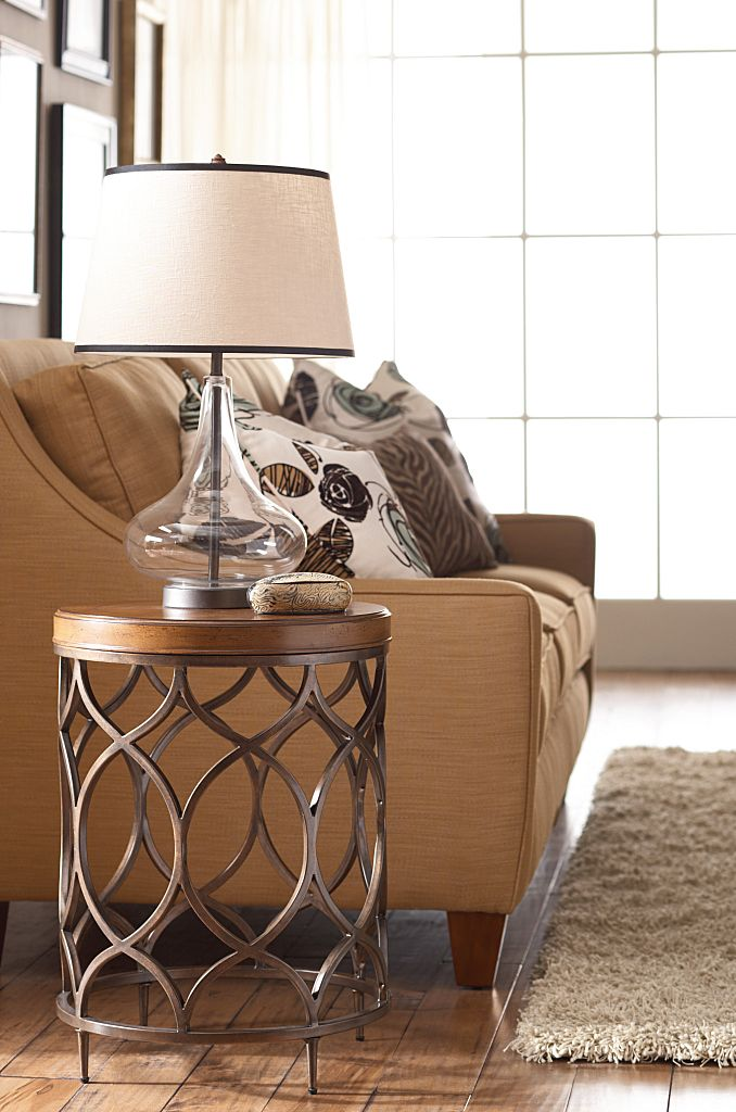 Hidden Treasures Round Lamp Table by Hammary at Mueller Furniture