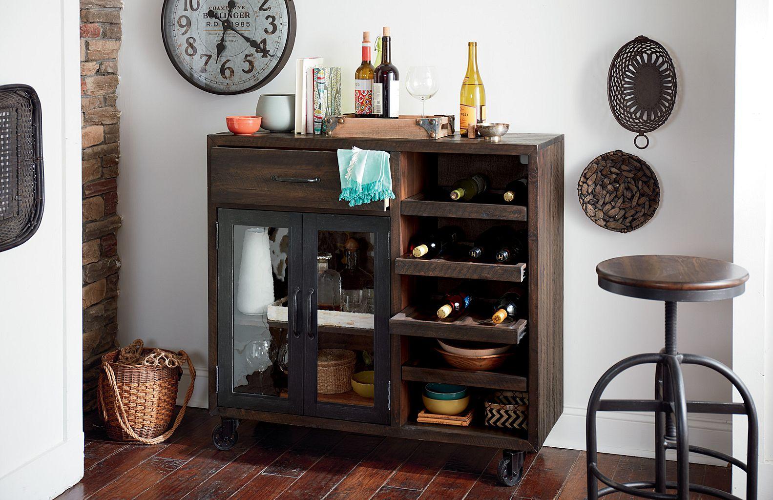 Hidden Treasures Bar Trolley by Hammary at Stuckey Furniture