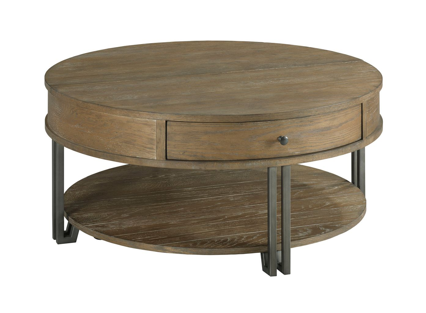 Saddletree Round Lift Top Coffee Table by Hammary at Jacksonville Furniture Mart