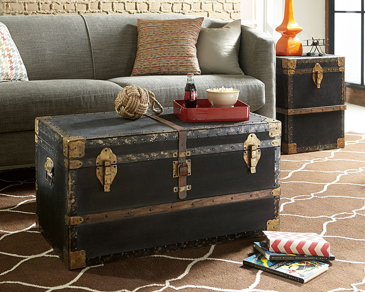 Hidden Treasures Trunk End Table by Hammary at Home Collections Furniture