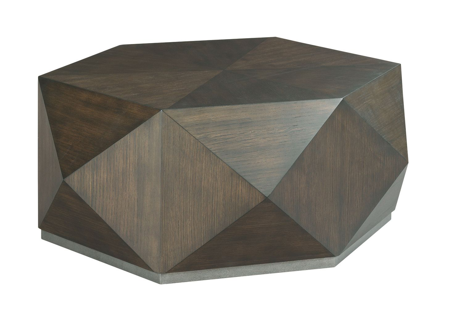 Hidden Treasures Hex Cocktail Table by Hammary at Mueller Furniture