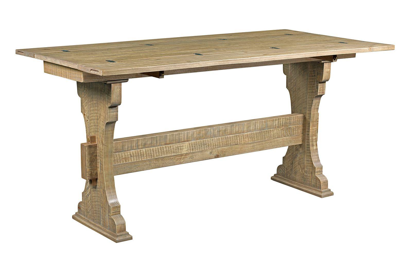 Hidden Treasures Trestle Flip Top Table by Hammary at Mueller Furniture