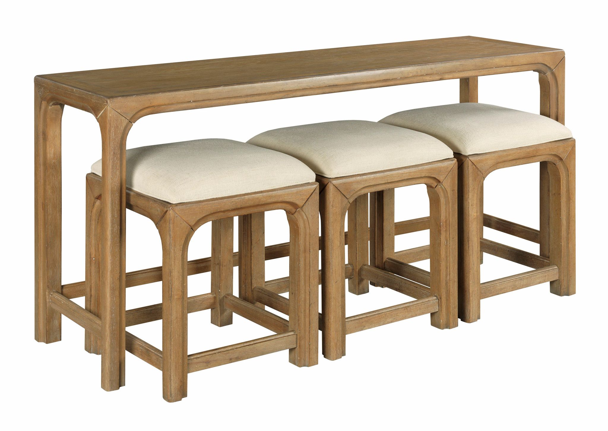 Jetson Sofa Bar Table with Stools by Table Trends at Sprintz Furniture