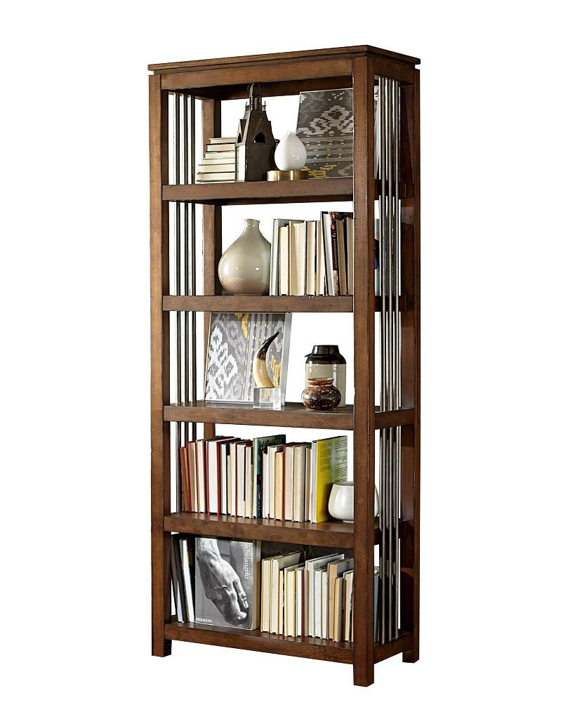 Hidden Treasures Bookcase with Five Shelves by Hammary at Mueller Furniture