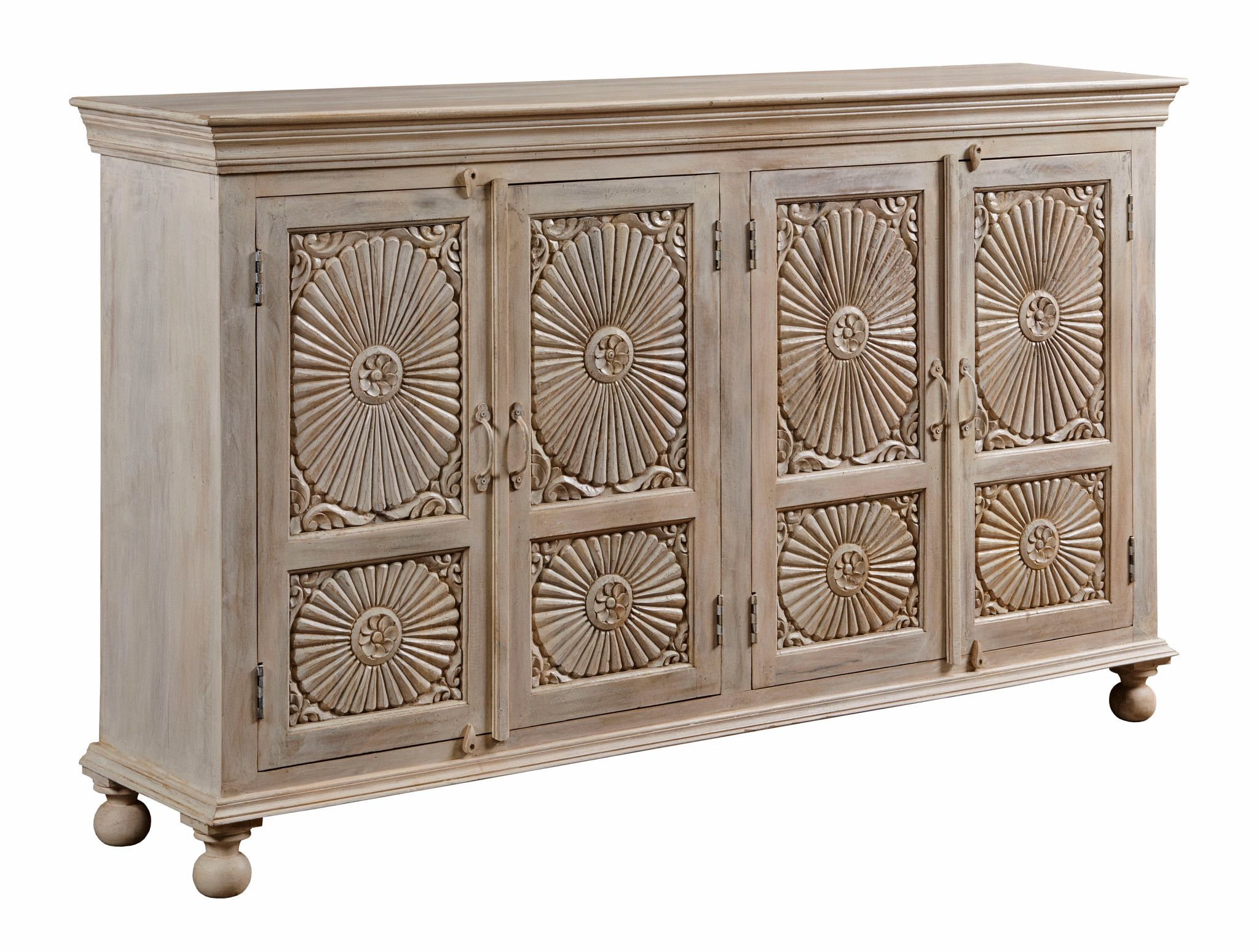 Hidden Treasures Parchment Four Door Cabinet by Hammary at Crowley Furniture & Mattress