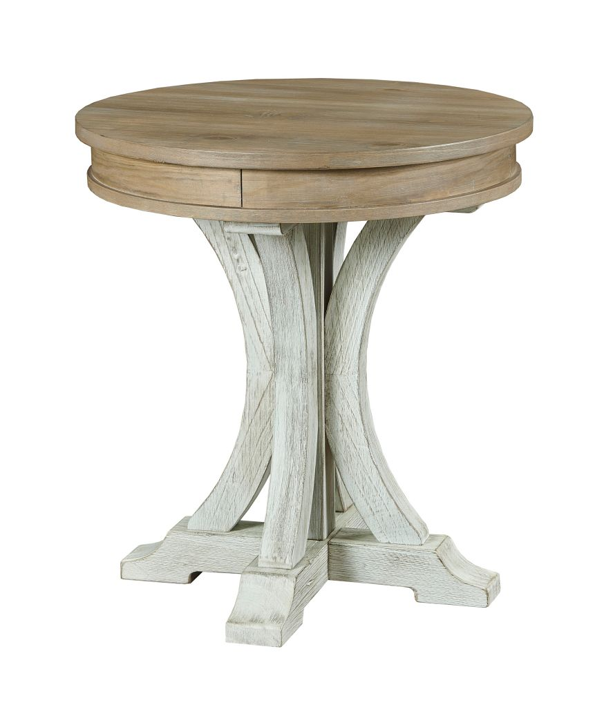 Cimarron Valley Round End Table by Hammary at Wilson's Furniture