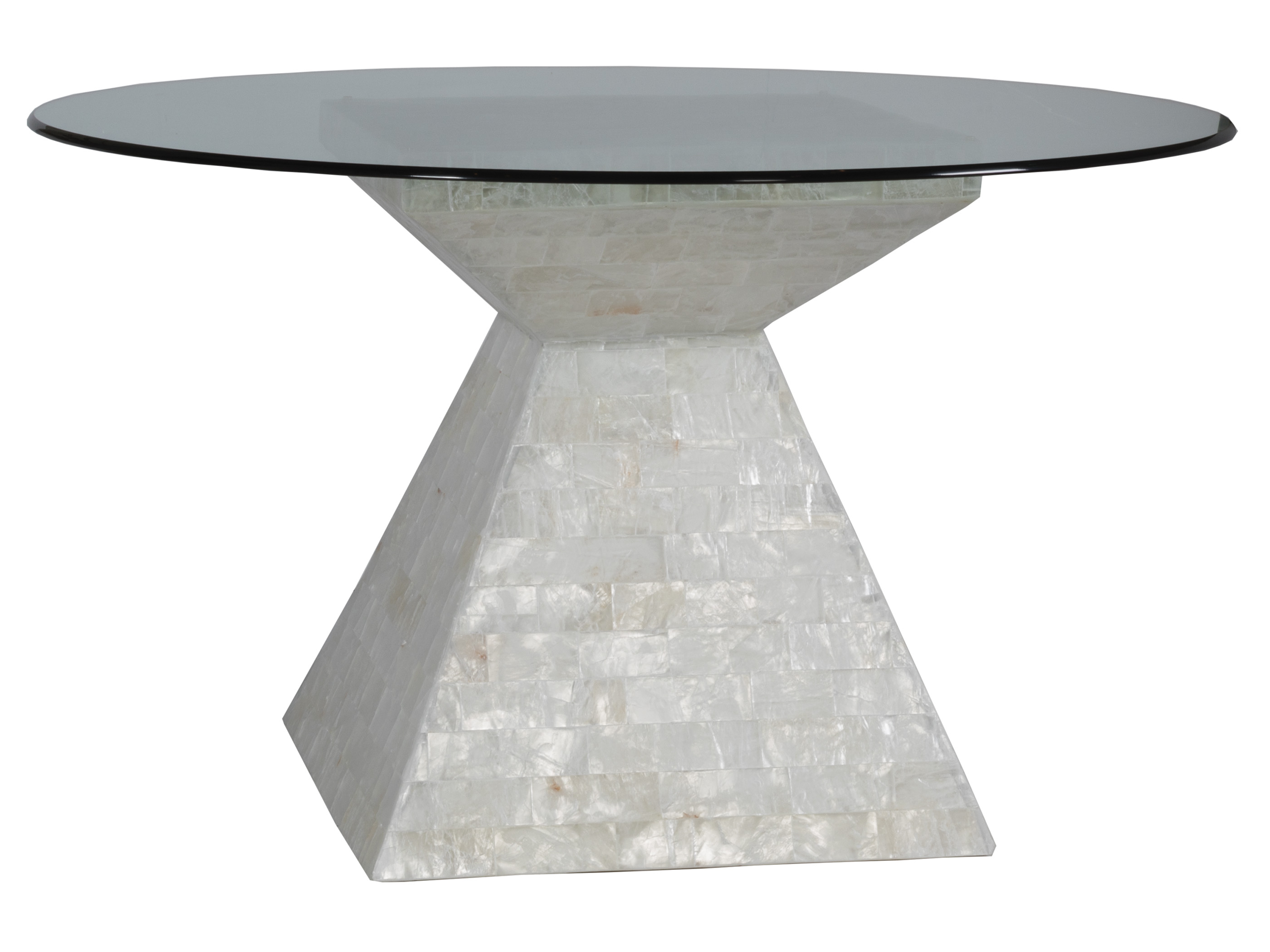 60 Inch Round Dining Table with Glass Top