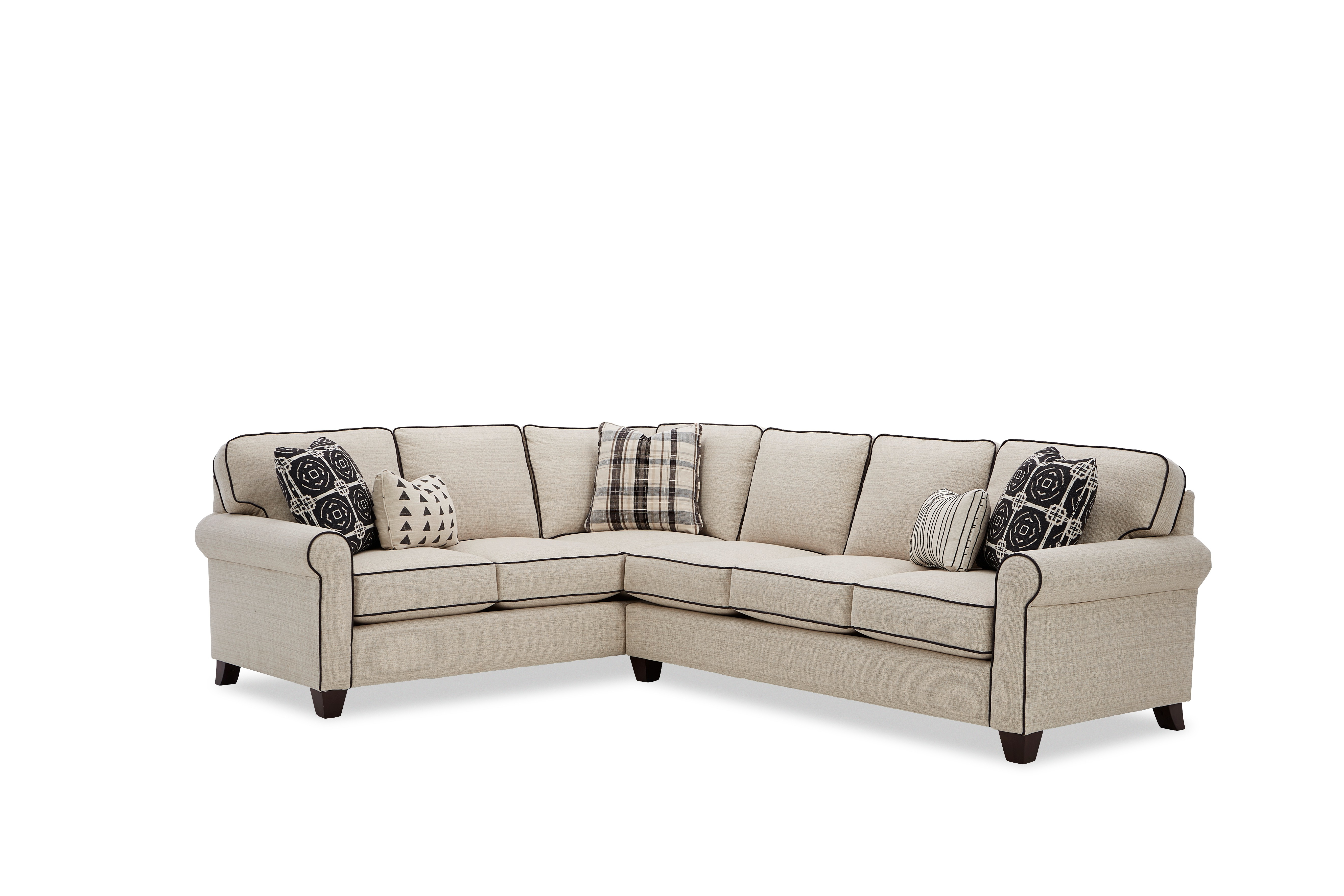 717450 5-Seat Sectional Sofa w/ LAF Return Sofa by Craftmaster at Esprit Decor Home Furnishings