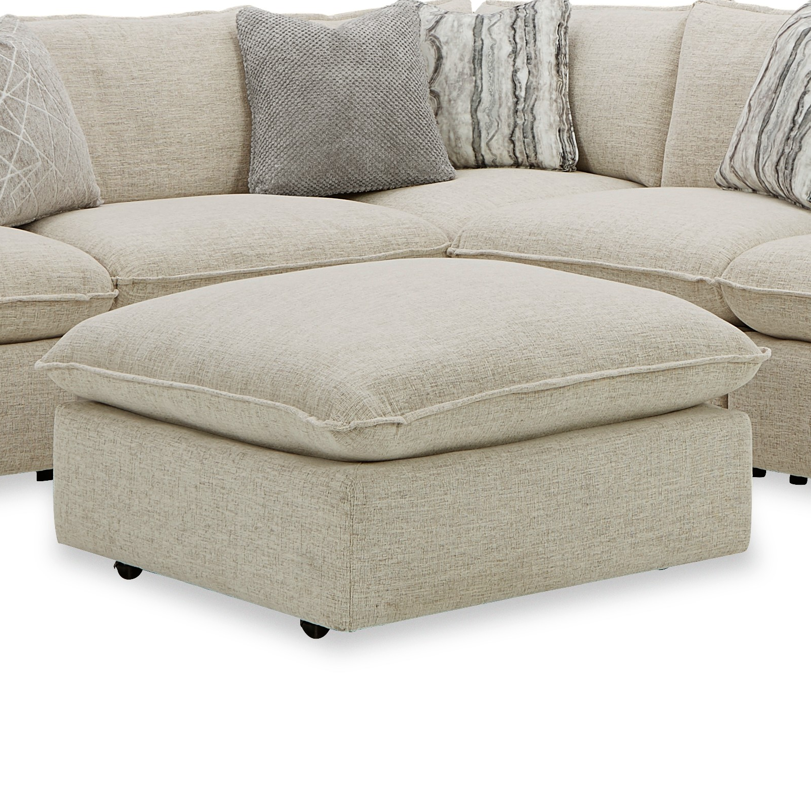 712741BD Bumper Ottoman by Craftmaster at Esprit Decor Home Furnishings