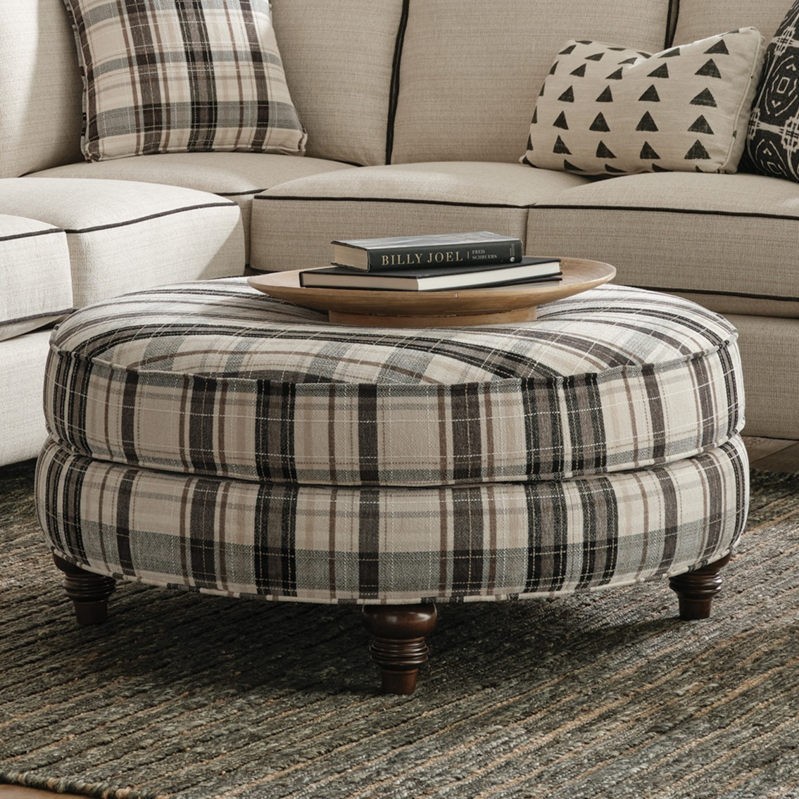 011500 Cocktail Ottoman by Craftmaster at Powell's Furniture and Mattress