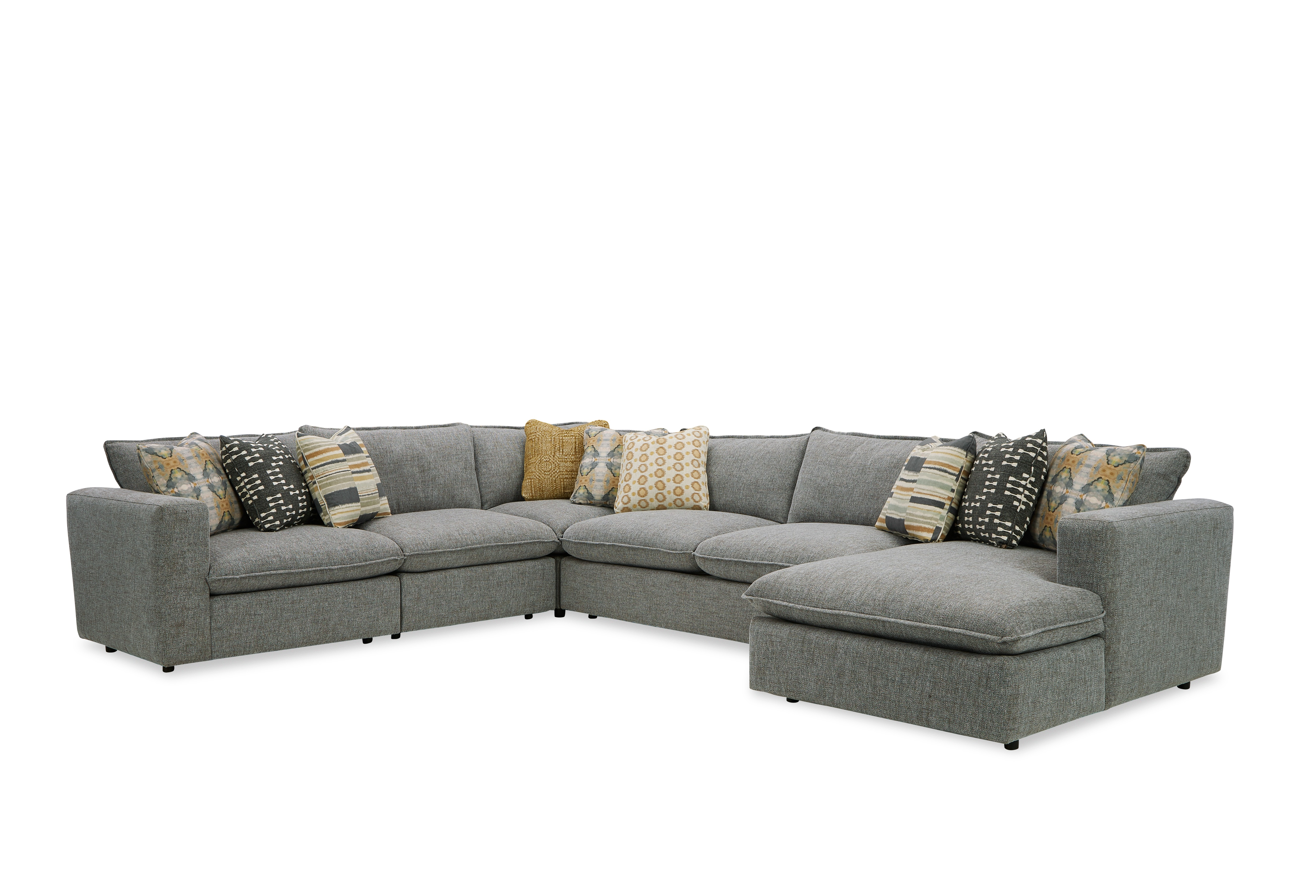 712741BD Sectional Sofa with Large Chaise by Craftmaster at Esprit Decor Home Furnishings
