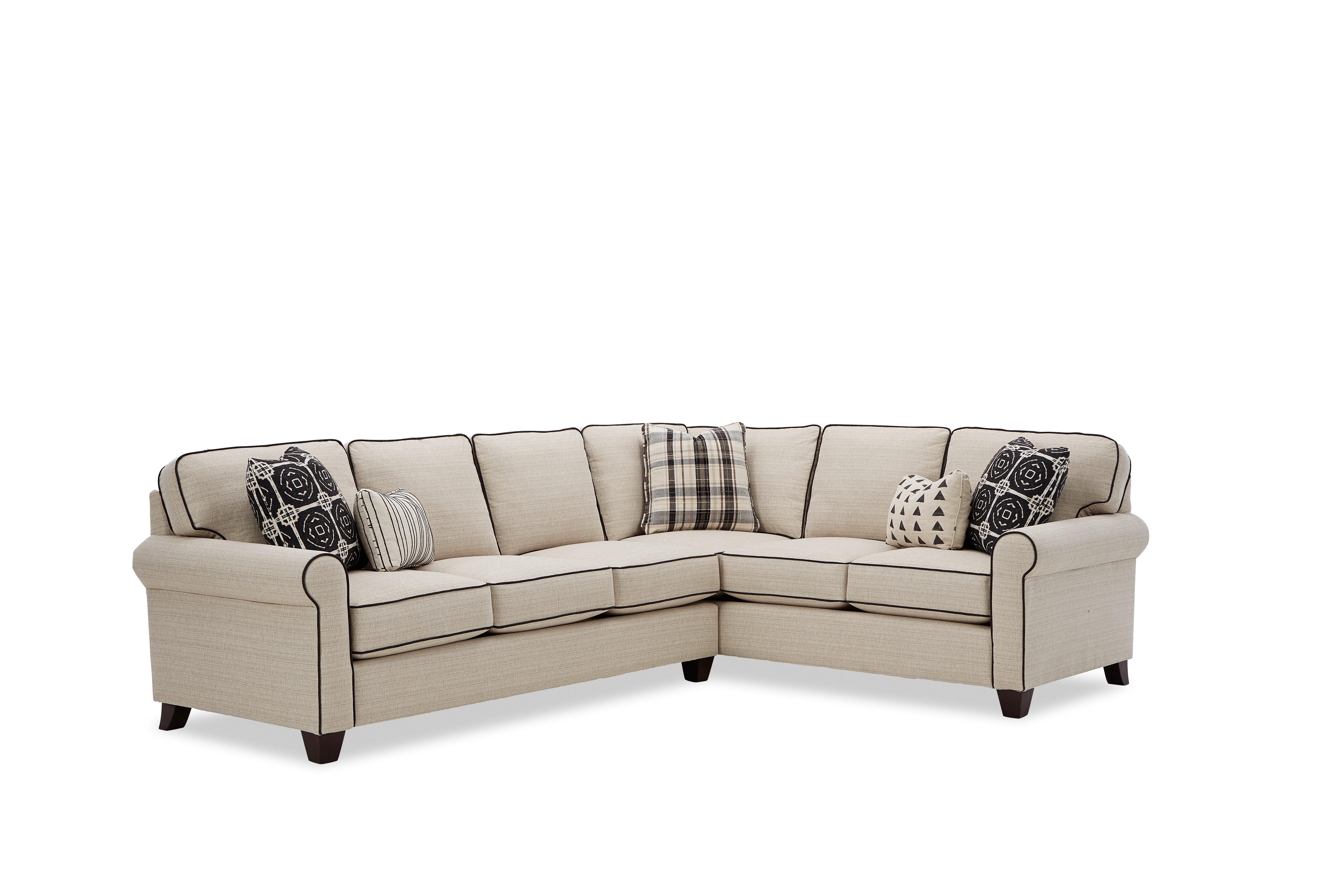 717450 5-Seat Sectional Sofa w/ RAF Return Sofa by Craftmaster at Esprit Decor Home Furnishings