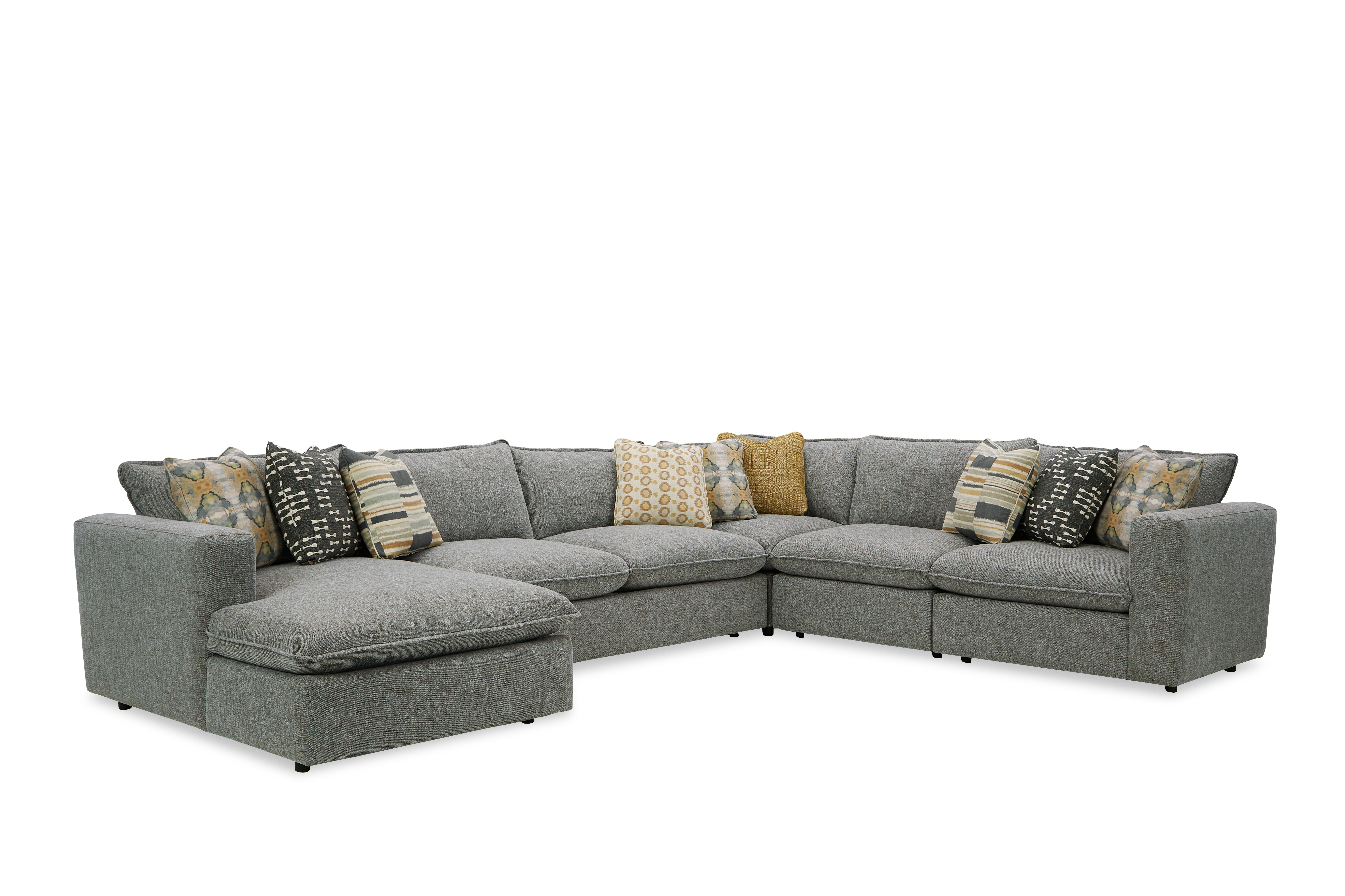 712741BD Sectional Sofa with Large Chaise by Craftmaster at Bullard Furniture