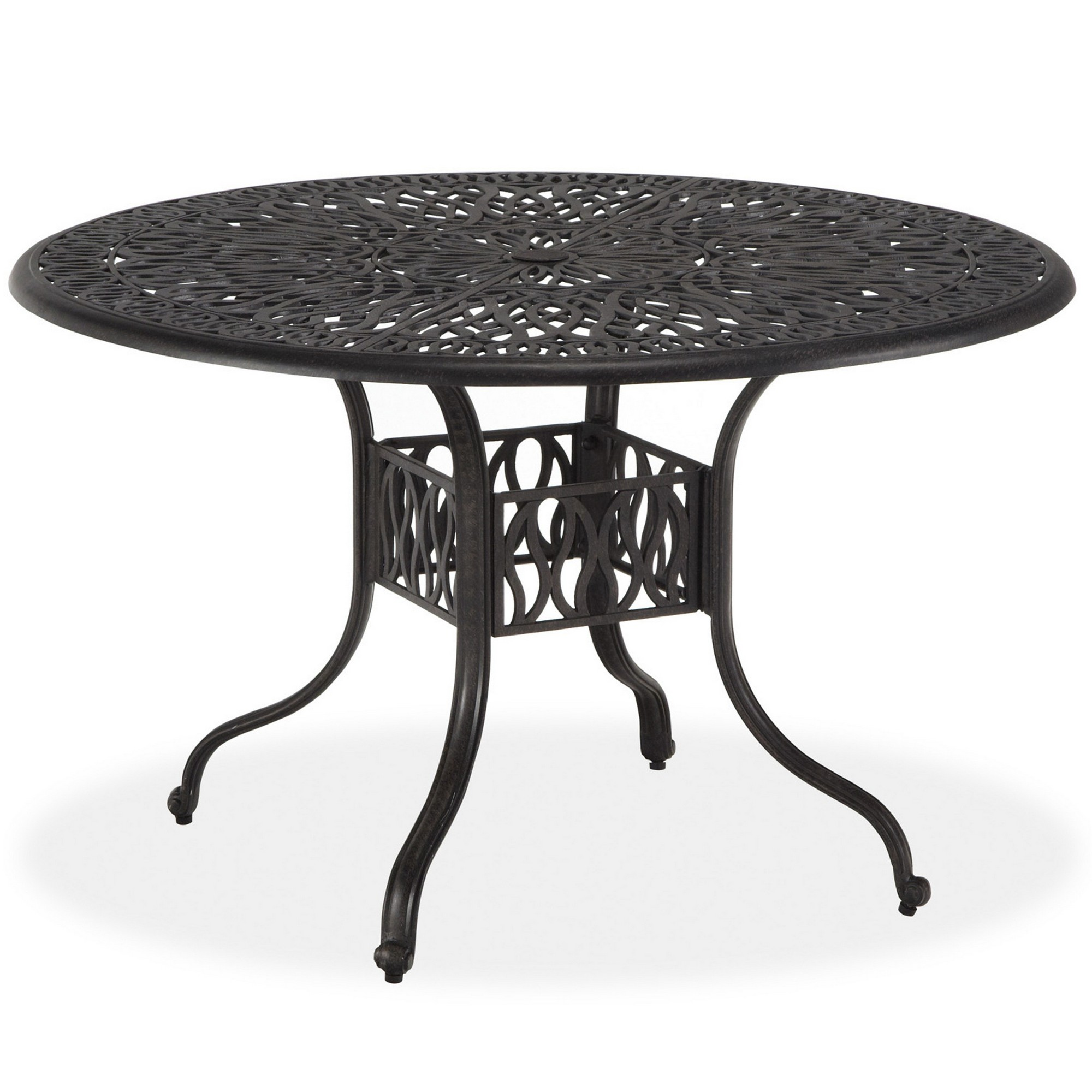 homestyles Capri Traditional 9 Inch Round Outdoor Dining Table ...