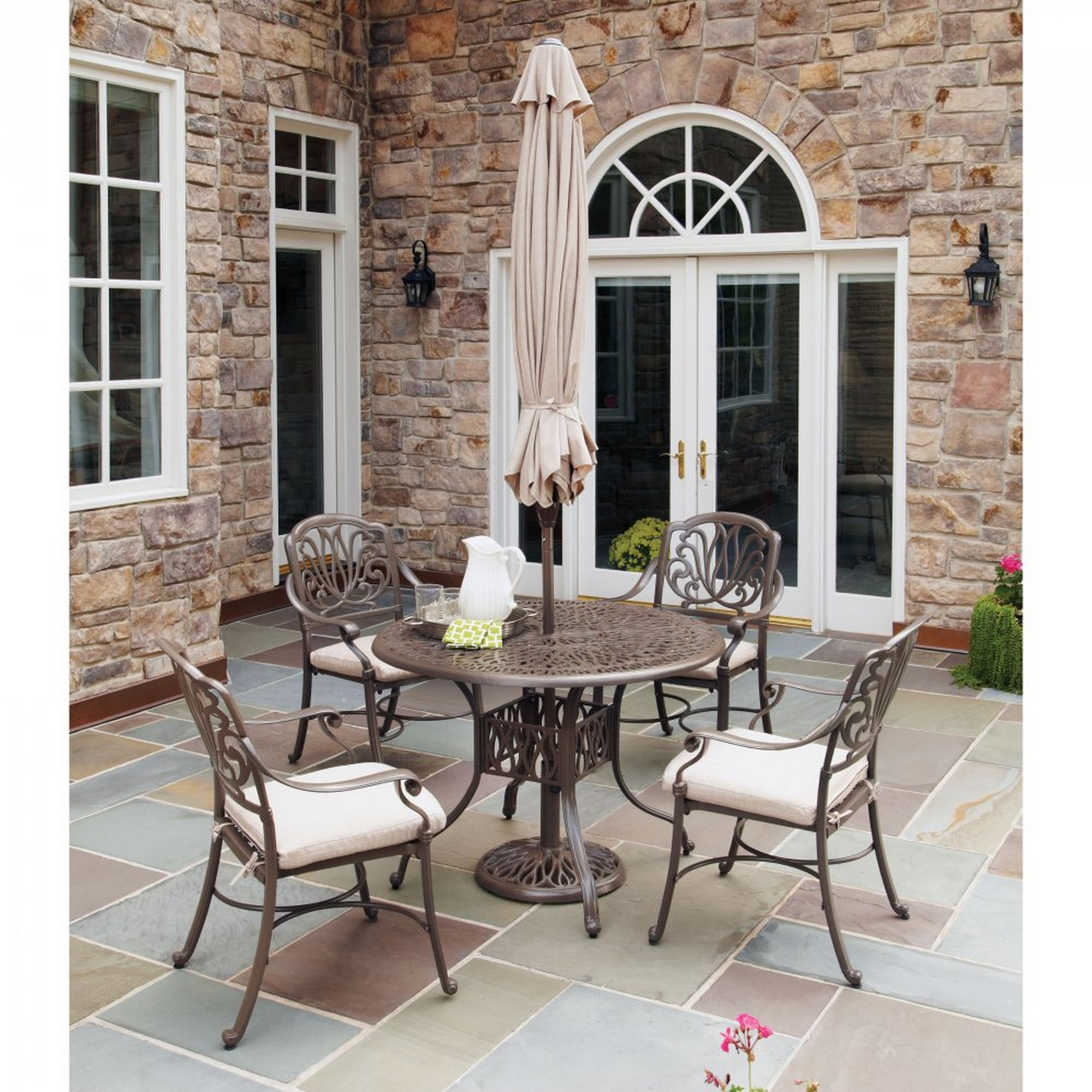 Capri 6 Piece Outdoor Dining Set by homestyles at Value City Furniture