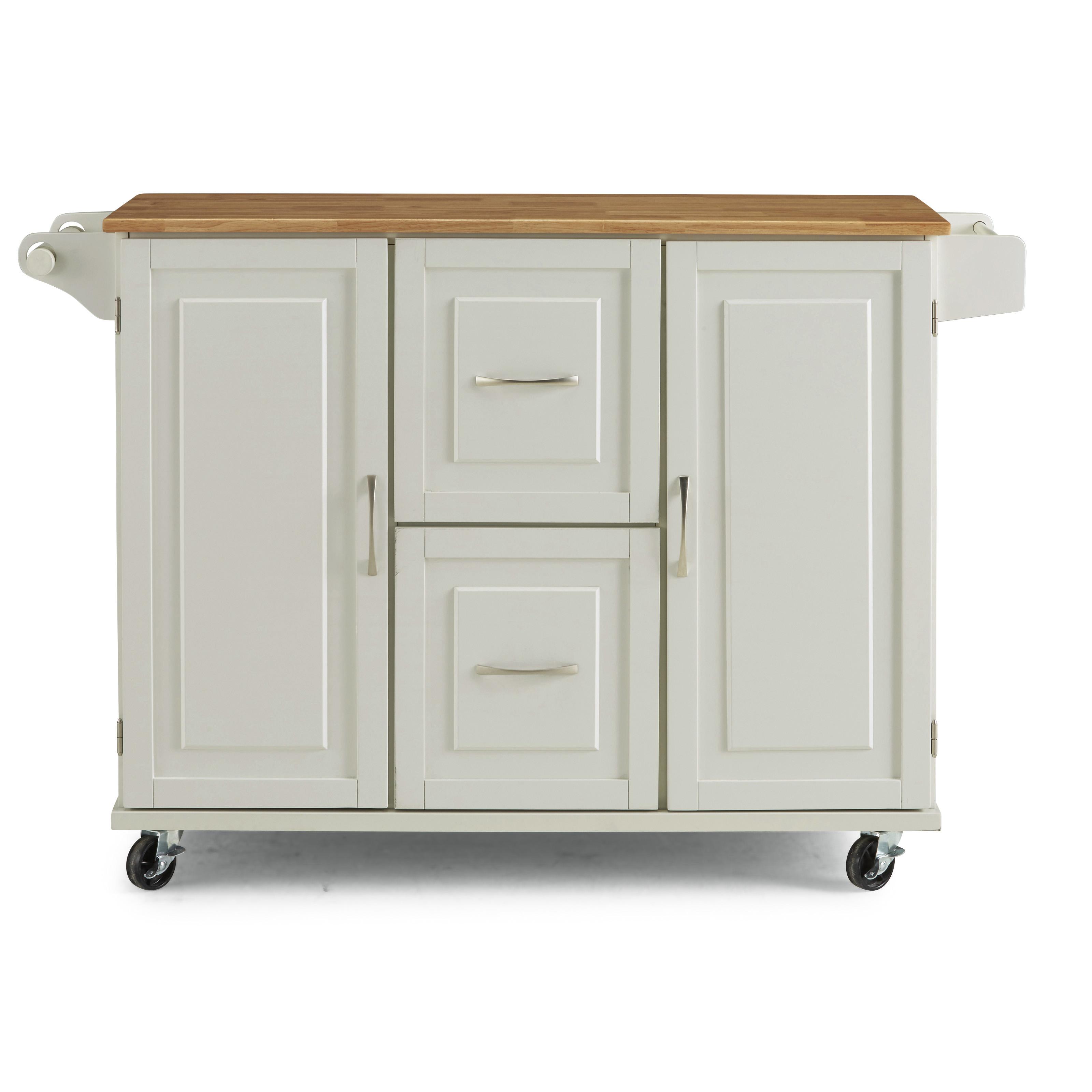 Blanche Kitchen Cart by homestyles at Sam Levitz Furniture