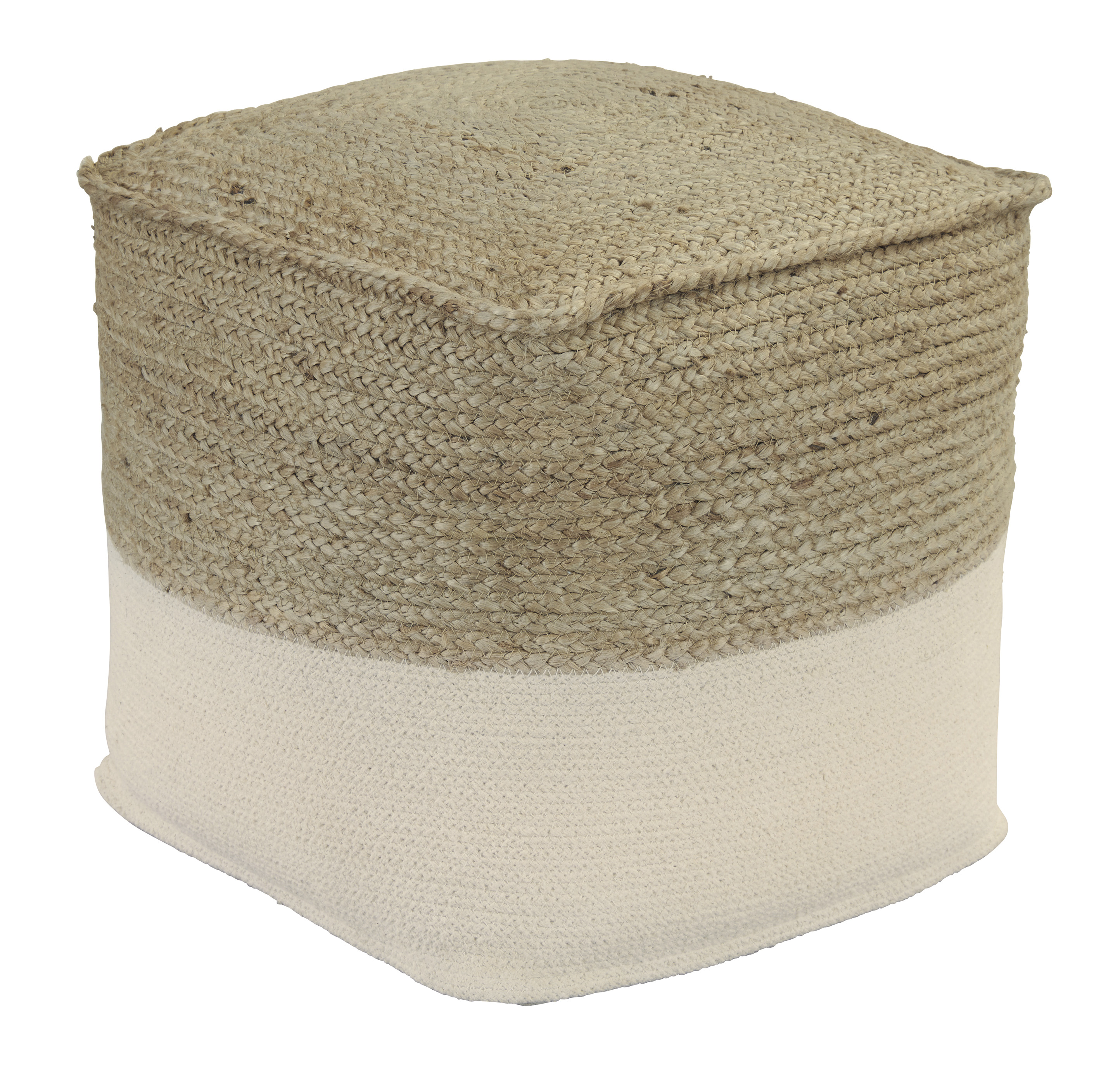 Poufs Sweed Valley Natural/White Pouf by Signature Design by Ashley at Furniture Barn