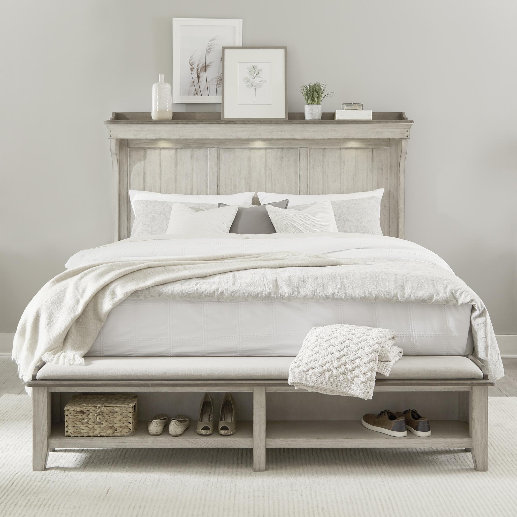Queen Mantle Storage Bed