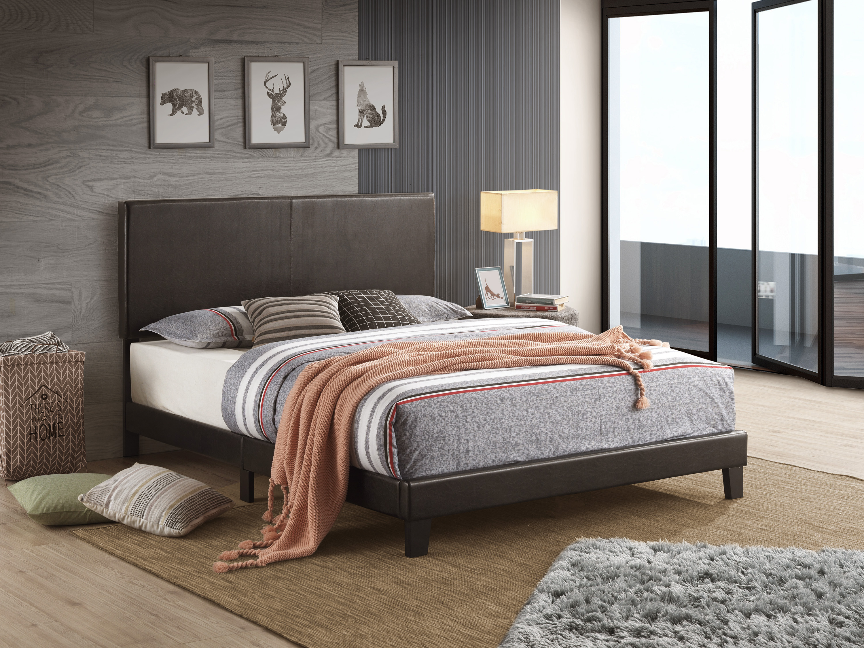 Yates Full Platform Bed by Crown Mark at Northeast Factory Direct