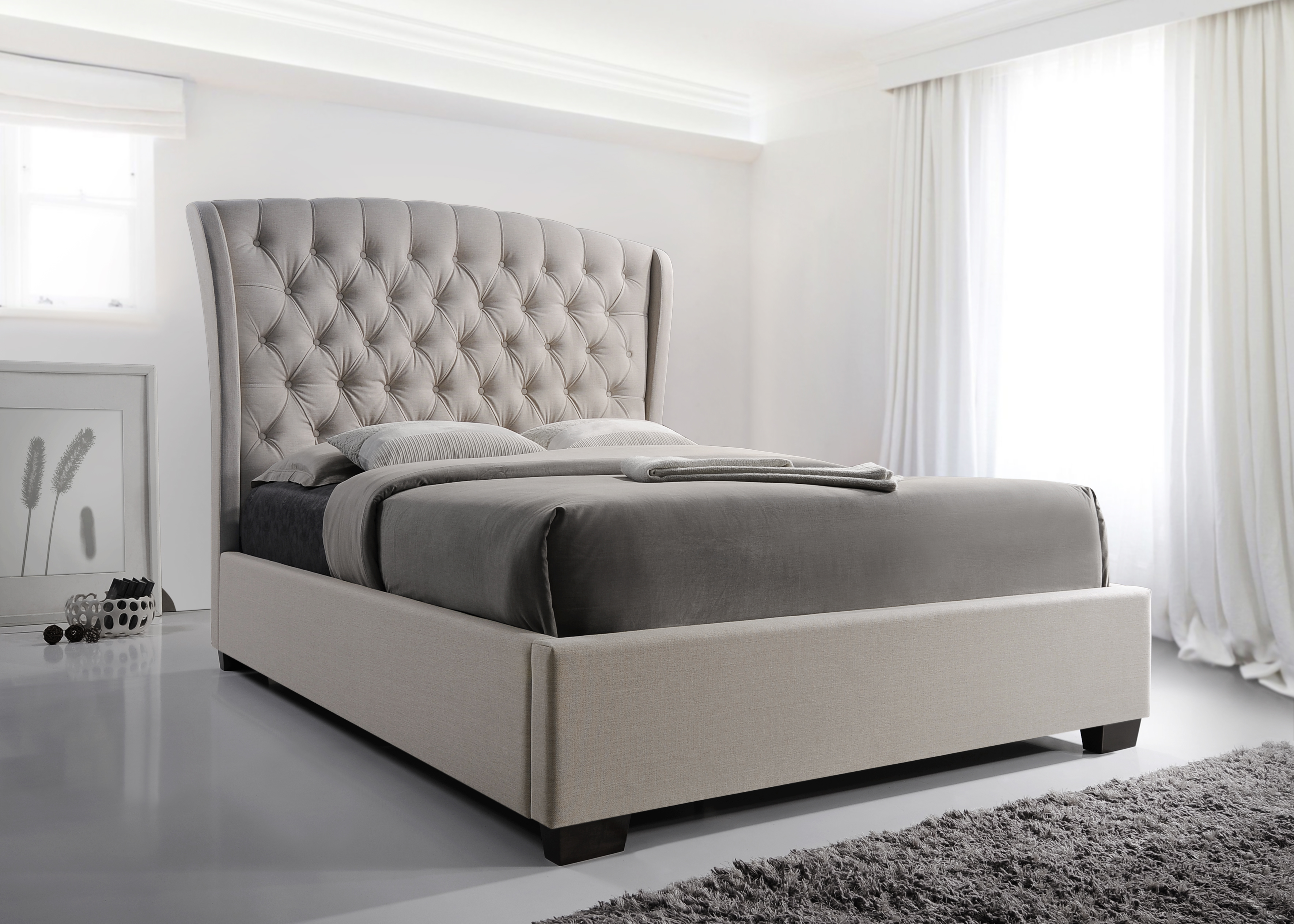 Kaitlyn King Upholstered Platform Bed by Crown Mark at Northeast Factory Direct