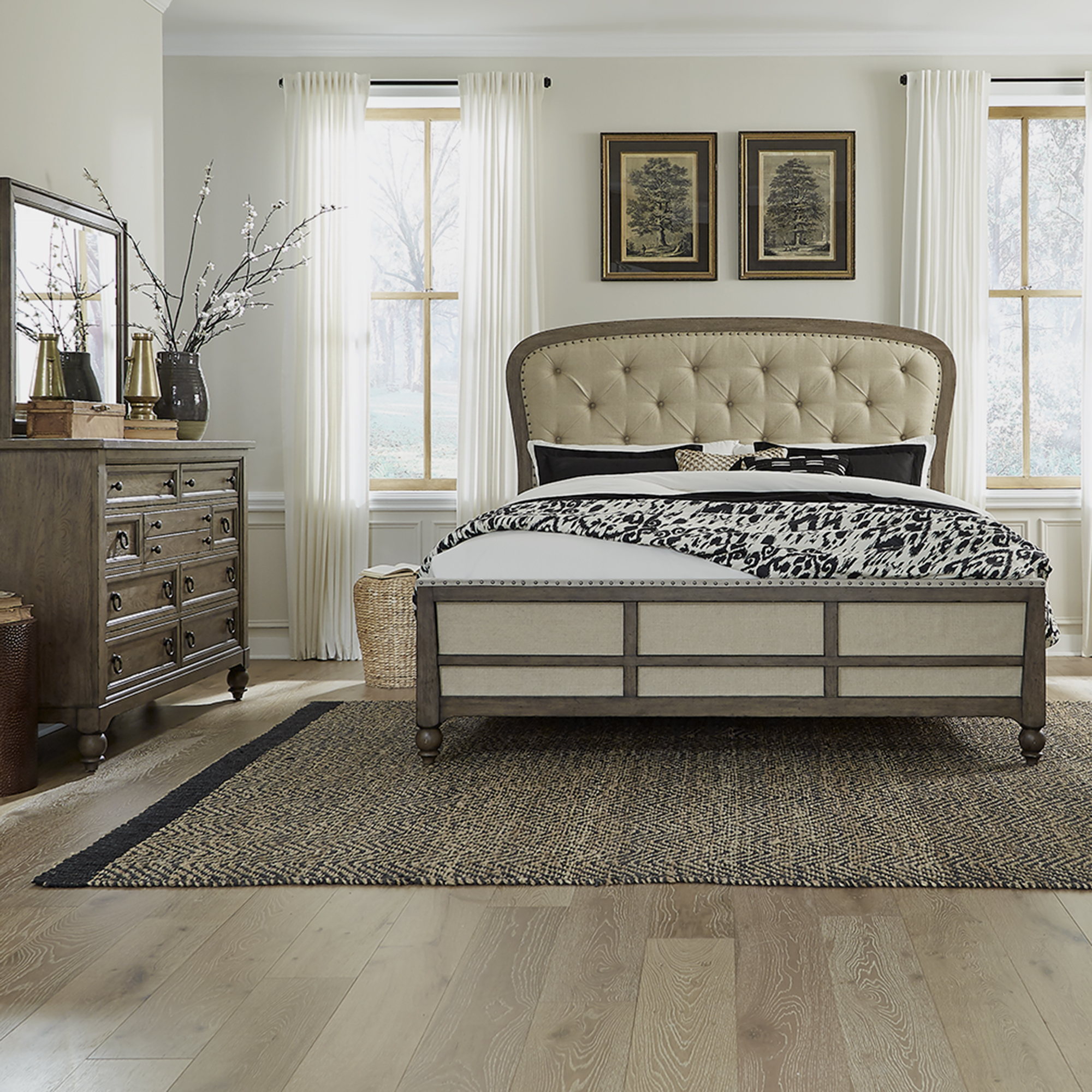 Americana Farmhouse Queen Shelter Bedroom Group by Liberty Furniture at Prime Brothers Furniture