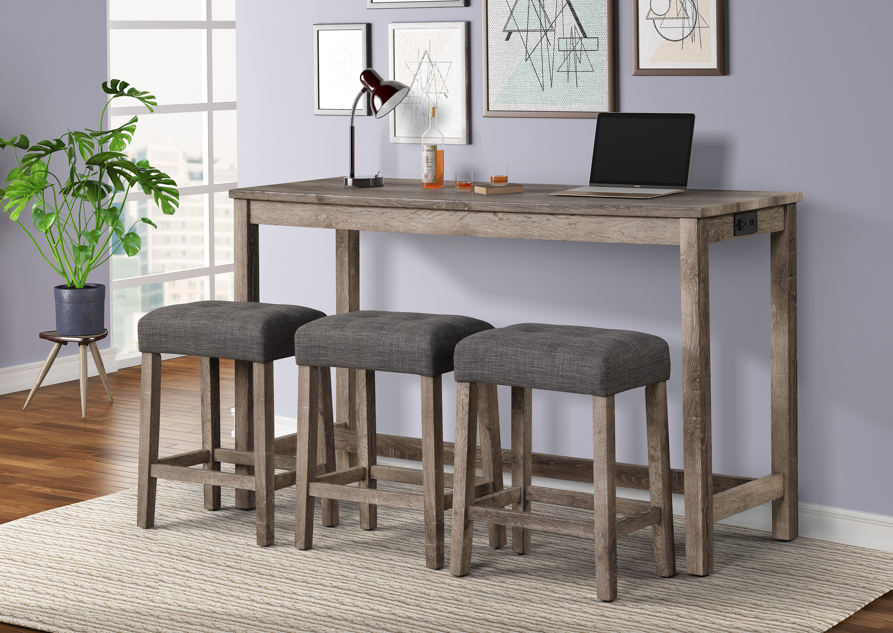 Wren Console Table with 3 Stools by Crown Mark at Northeast Factory Direct