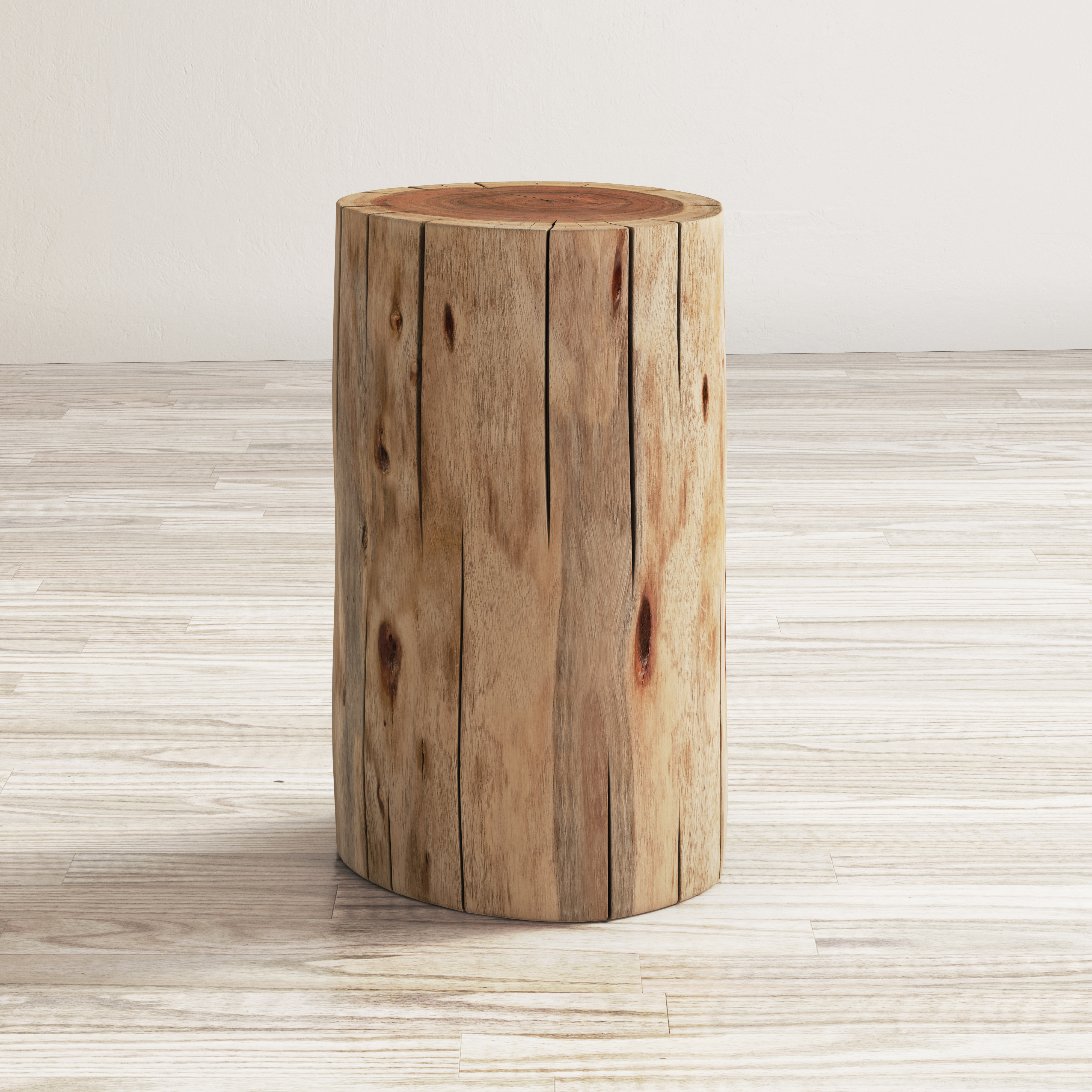 Global Archive Hardwood Stump Accent Table by Jofran at Jofran