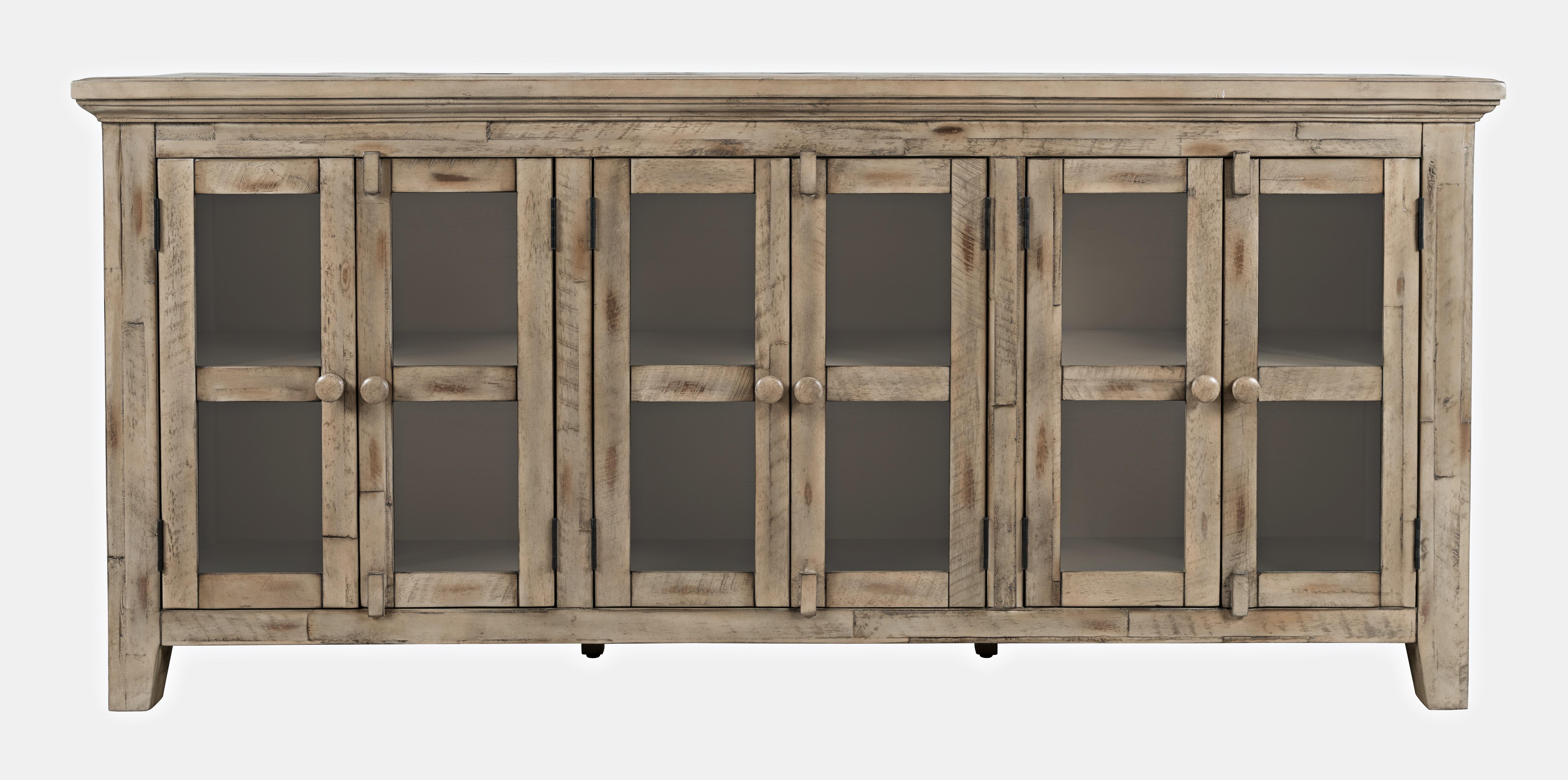 Rustic Shores 6 Door Low Cabinet by VFM Signature at Virginia Furniture Market