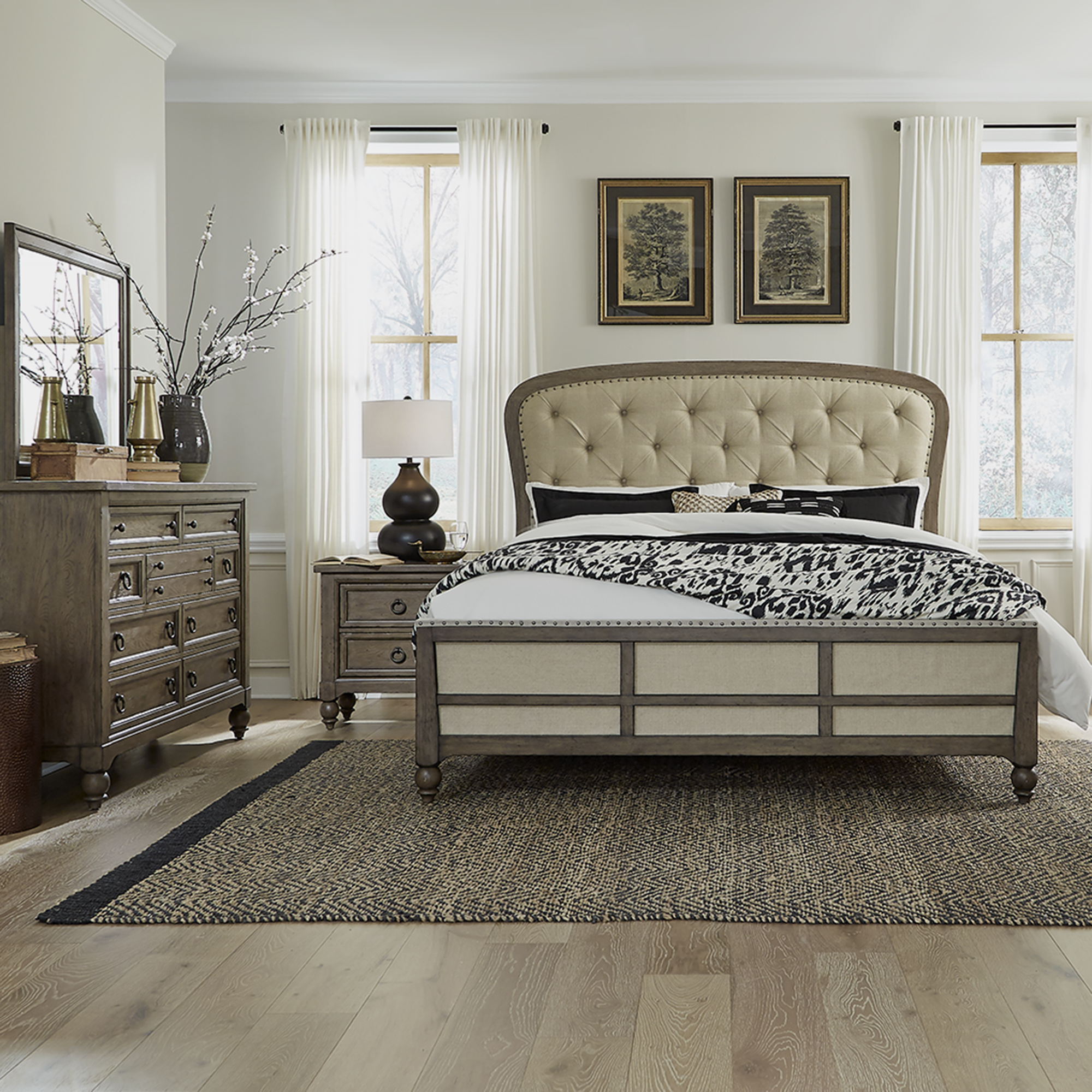 Americana Farmhouse Queen Shelter Bedroom Group by Liberty Furniture at Westrich Furniture & Appliances