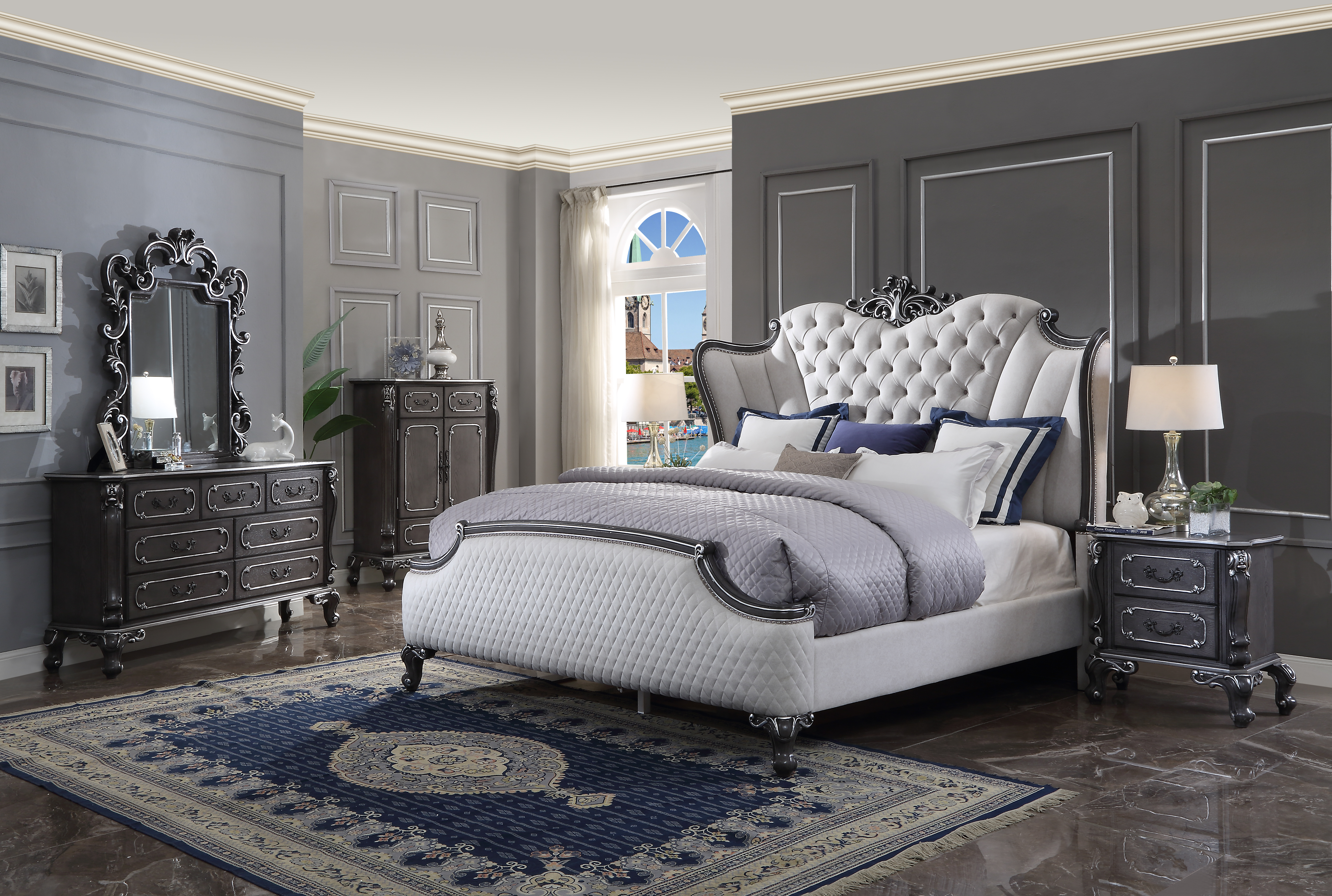 House Delphine Queen Bedroom Group by Acme Furniture at Carolina Direct