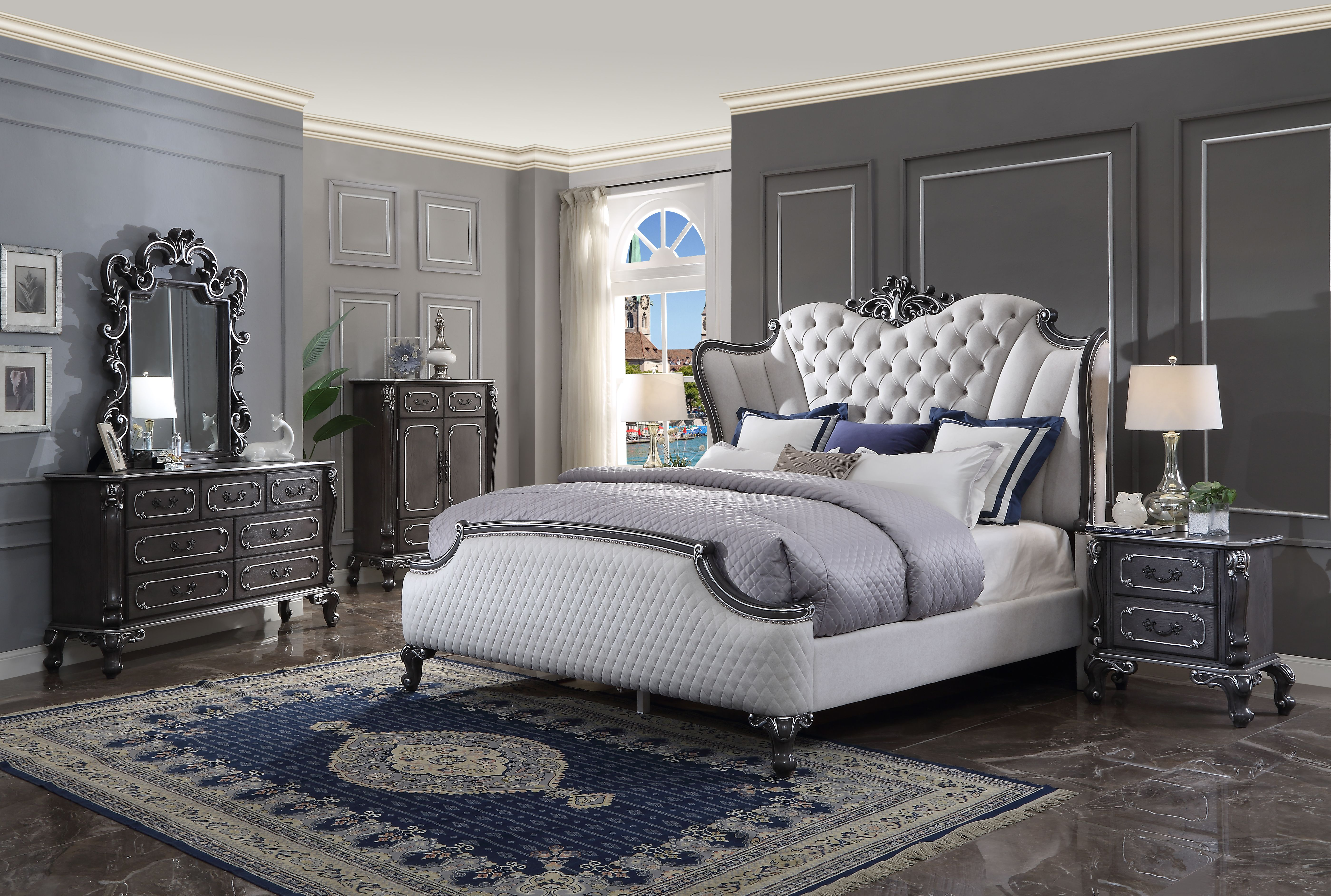 House Delphine California King Bedroom Group by Acme Furniture at Dream Home Interiors