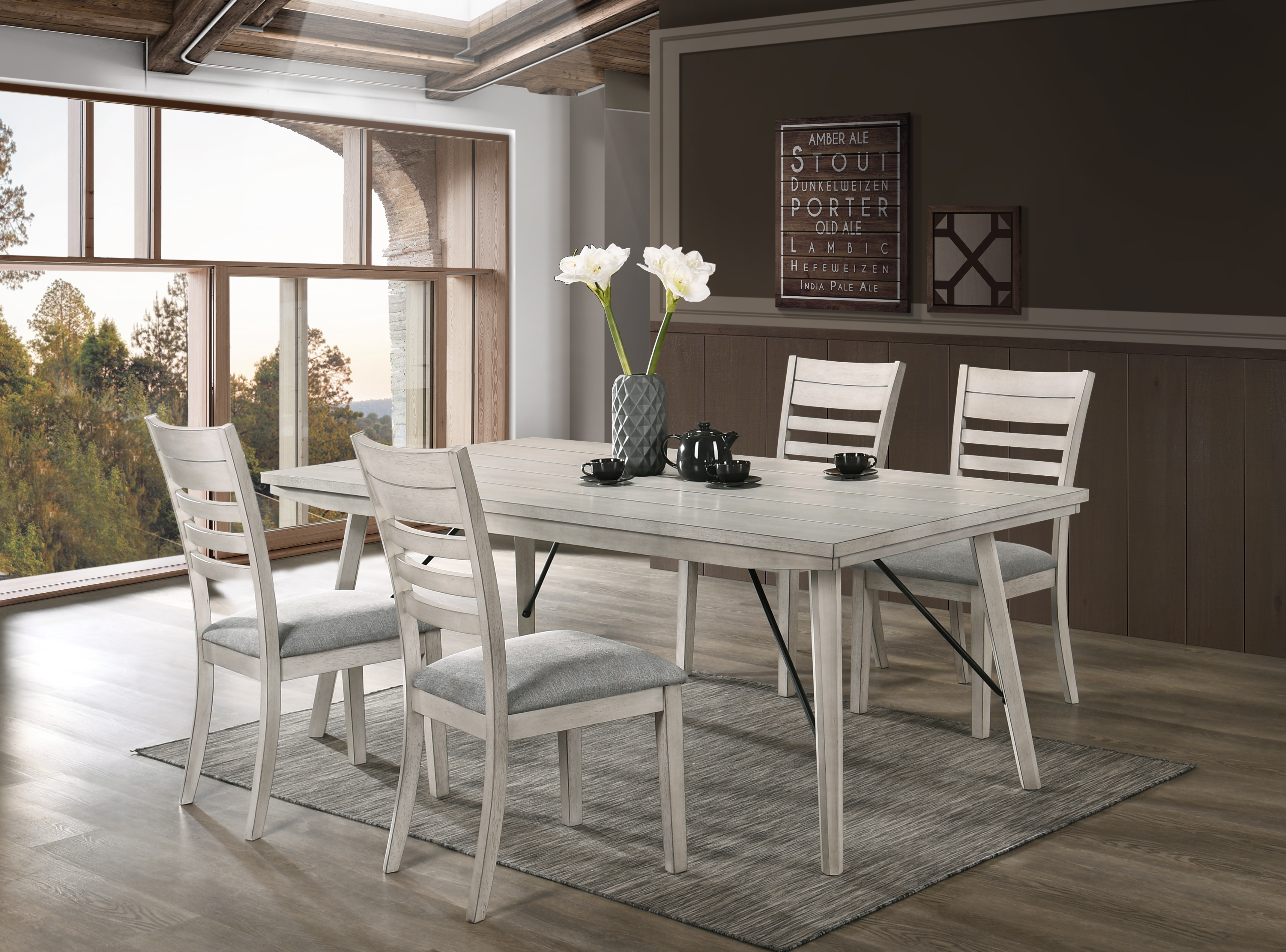 White Sands Dining 5-Piece Sets by Crown Mark at Northeast Factory Direct