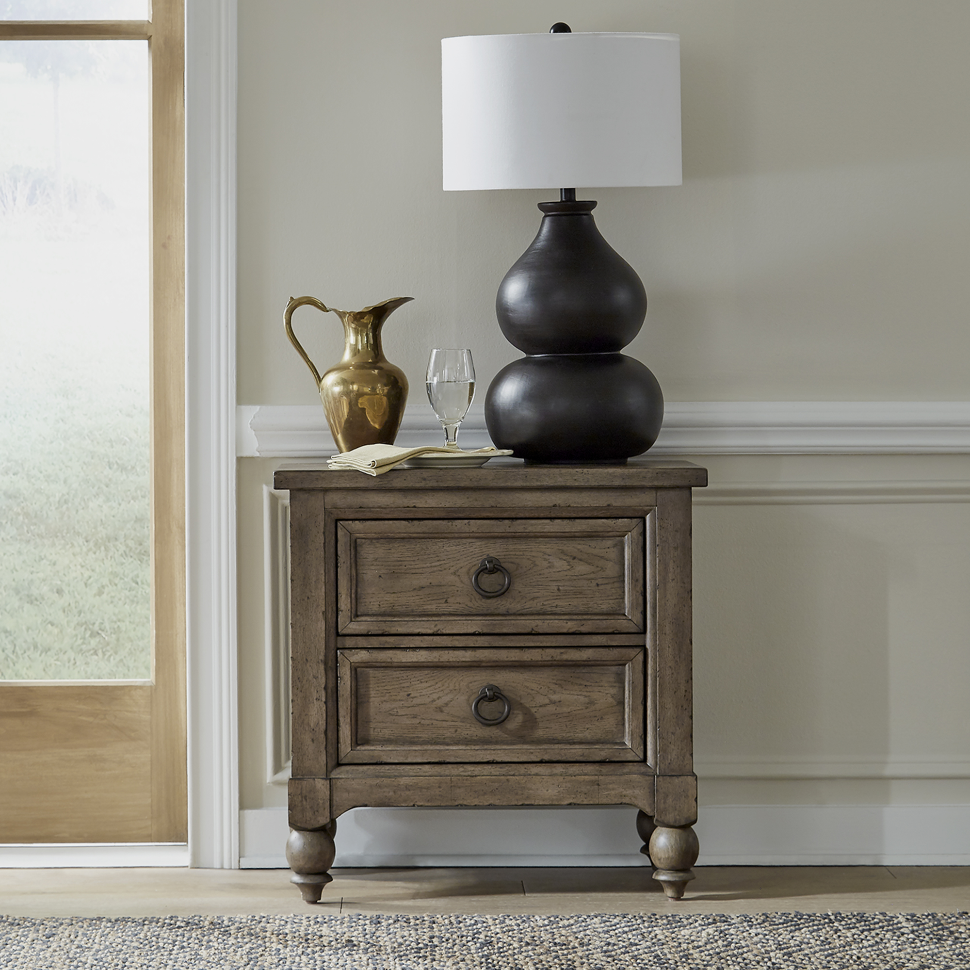 Americana Farmhouse Nightstand by Liberty Furniture at Gill Brothers Furniture