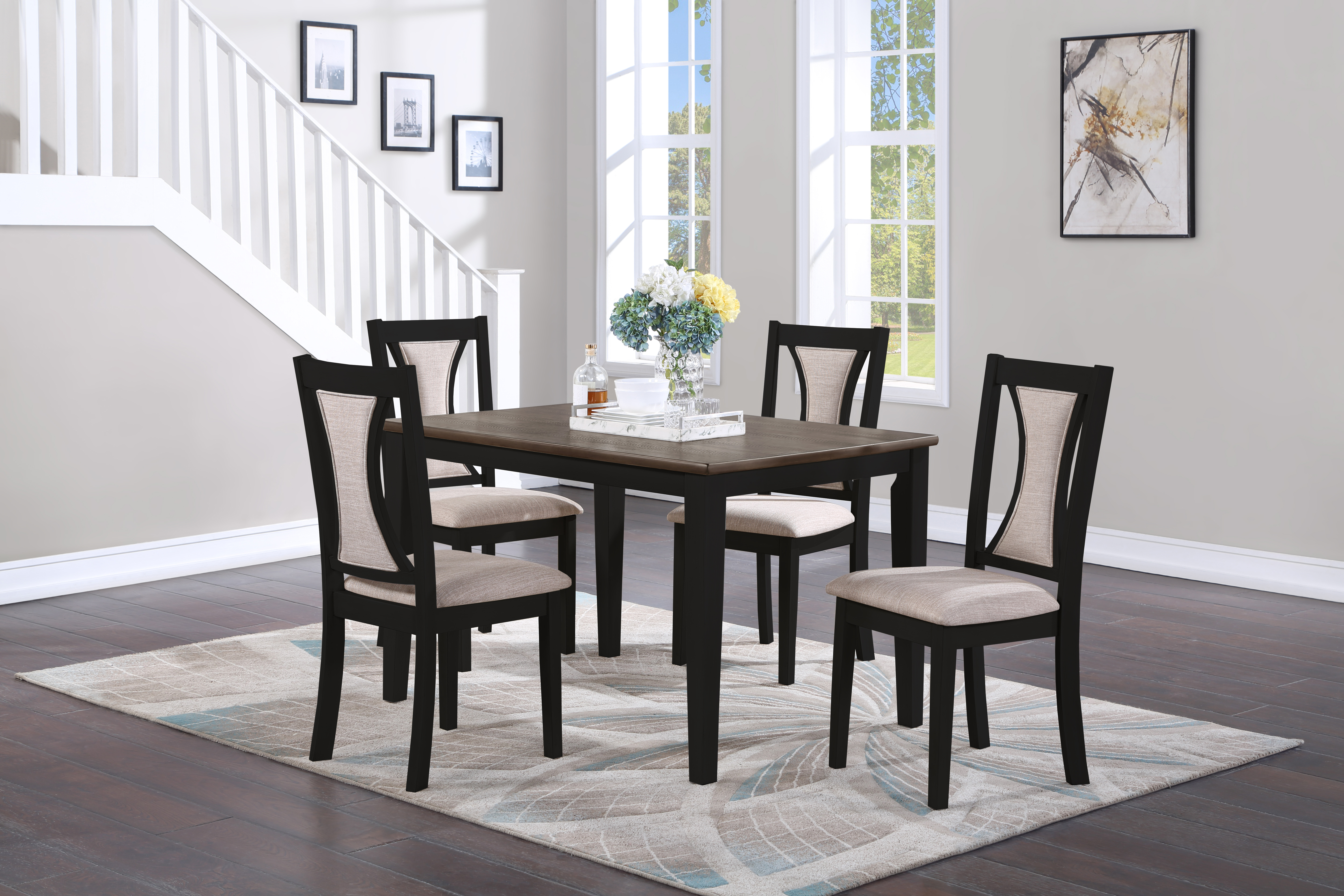 Hudson Dining Set by New Classic at Beds N Stuff