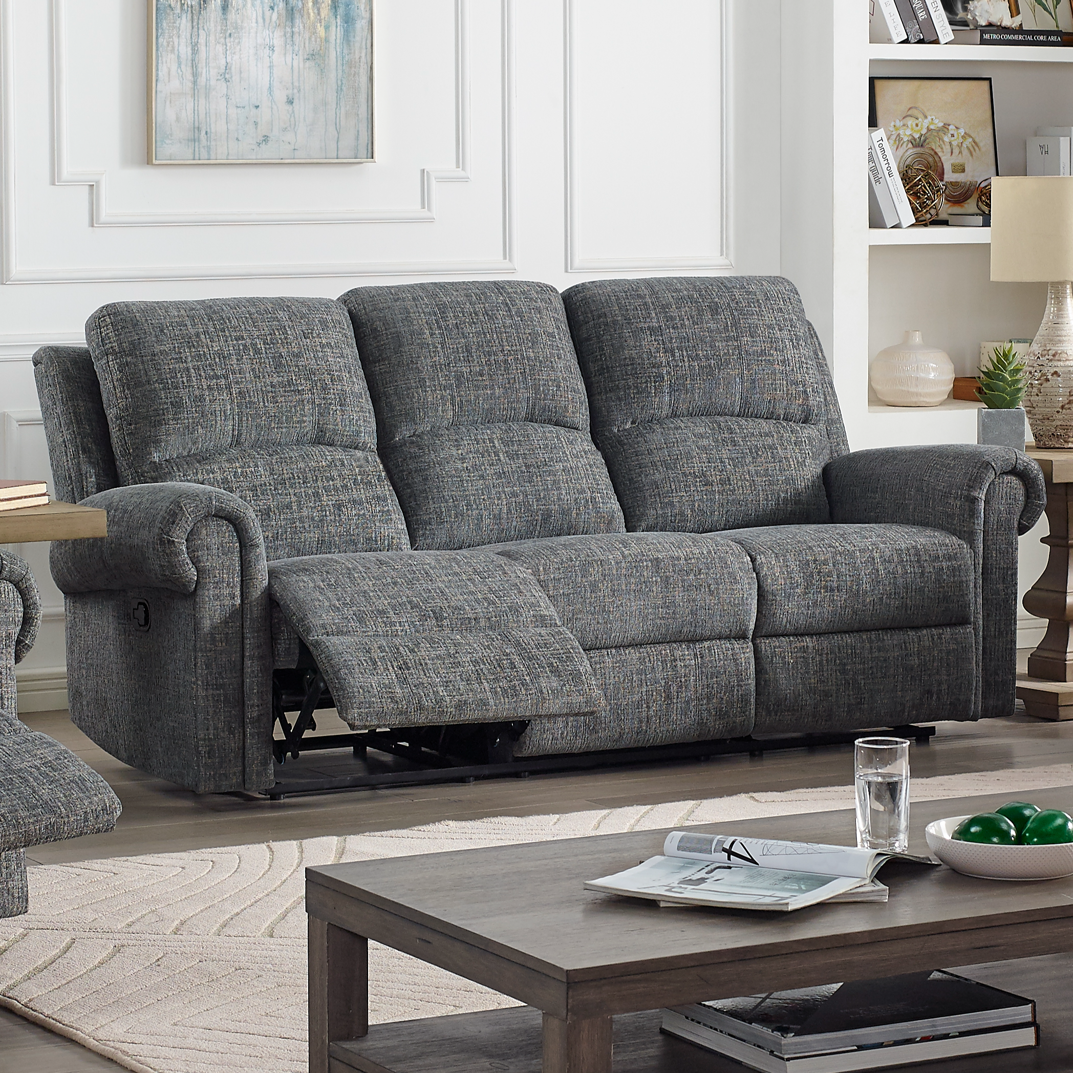 Connor Power Reclining Sofa by New Classic at Beds N Stuff