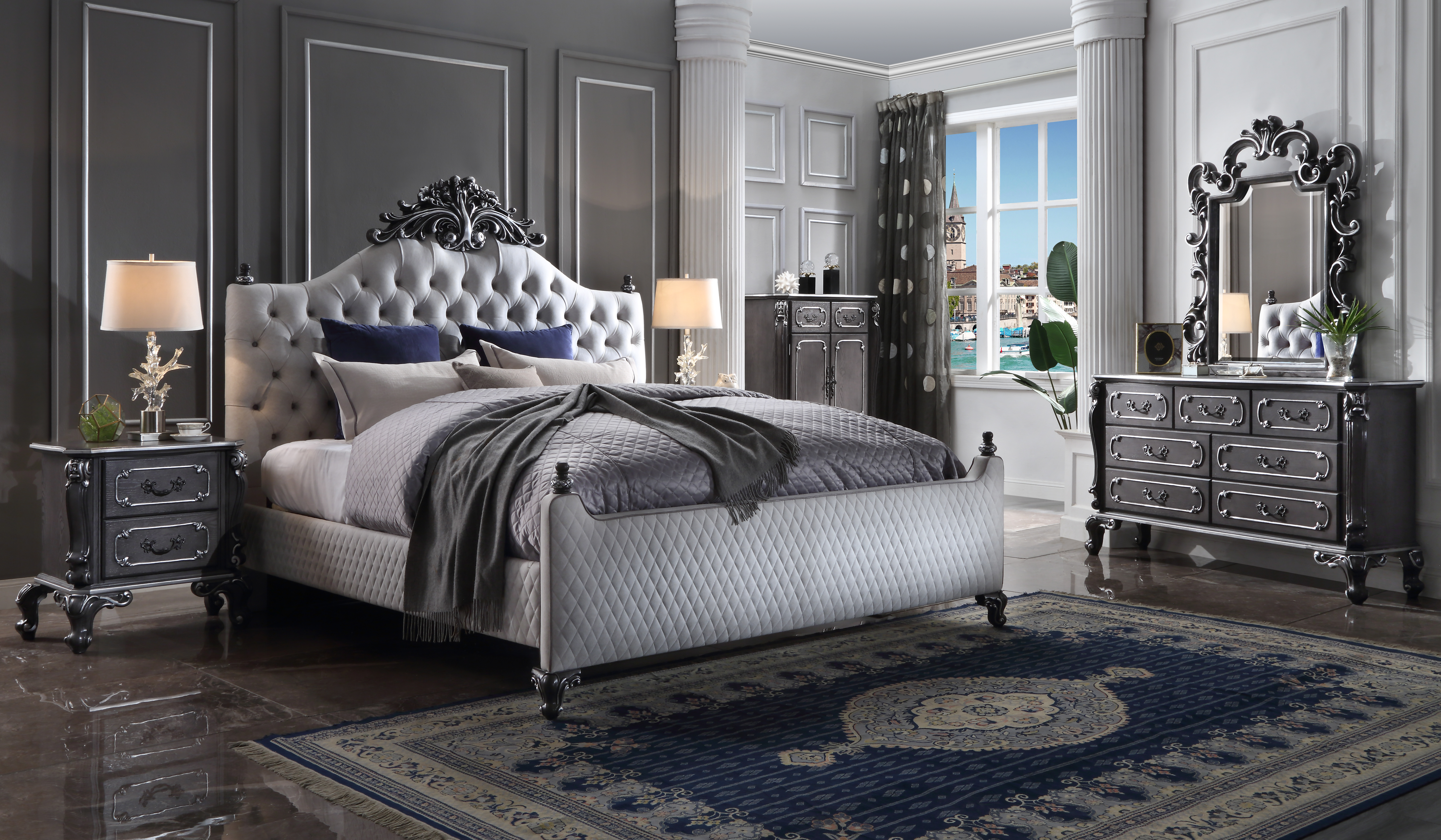 House Delphine Queen Bedroom Group by Acme Furniture at Nassau Furniture and Mattress