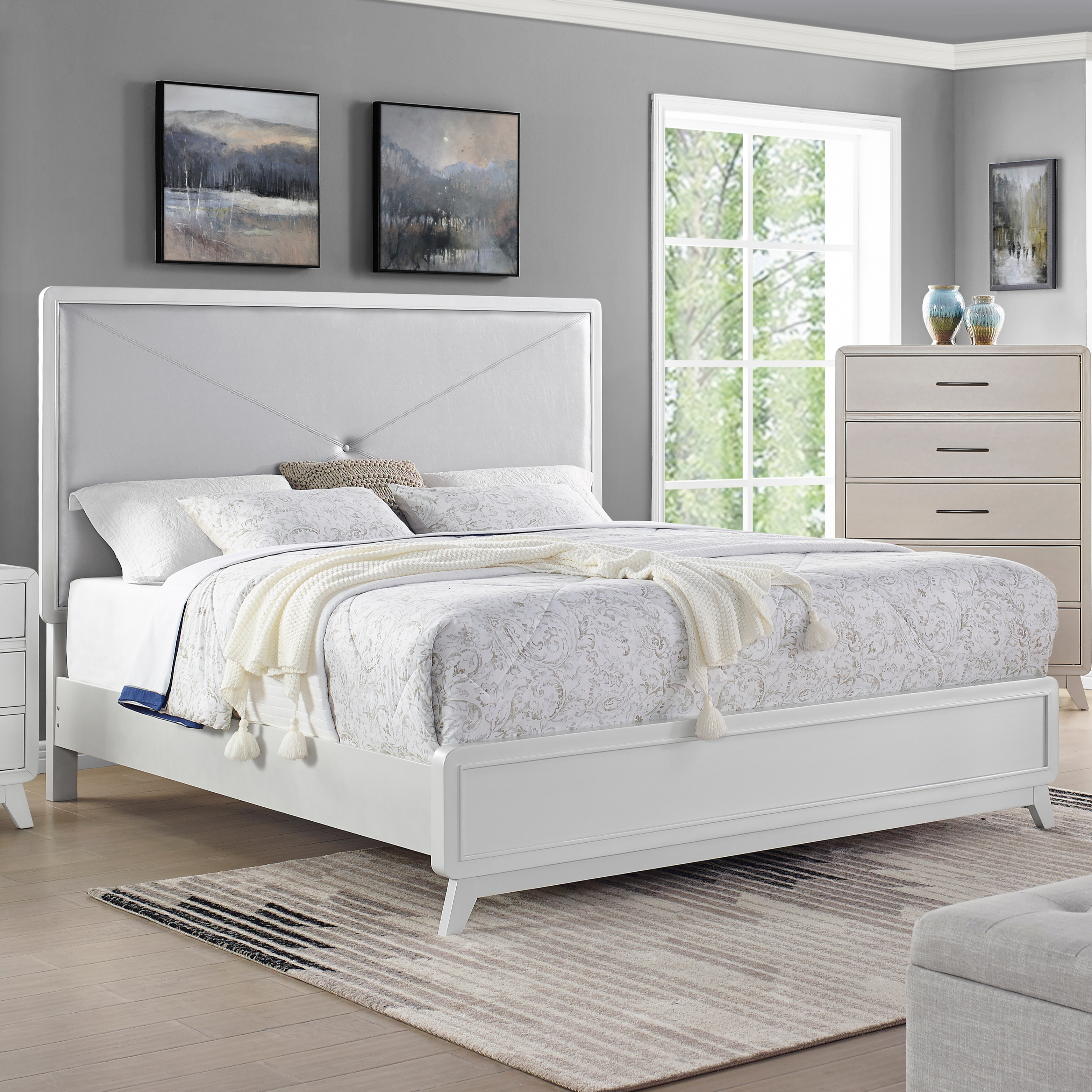 Skylar California King Bed by New Classic at Beds N Stuff