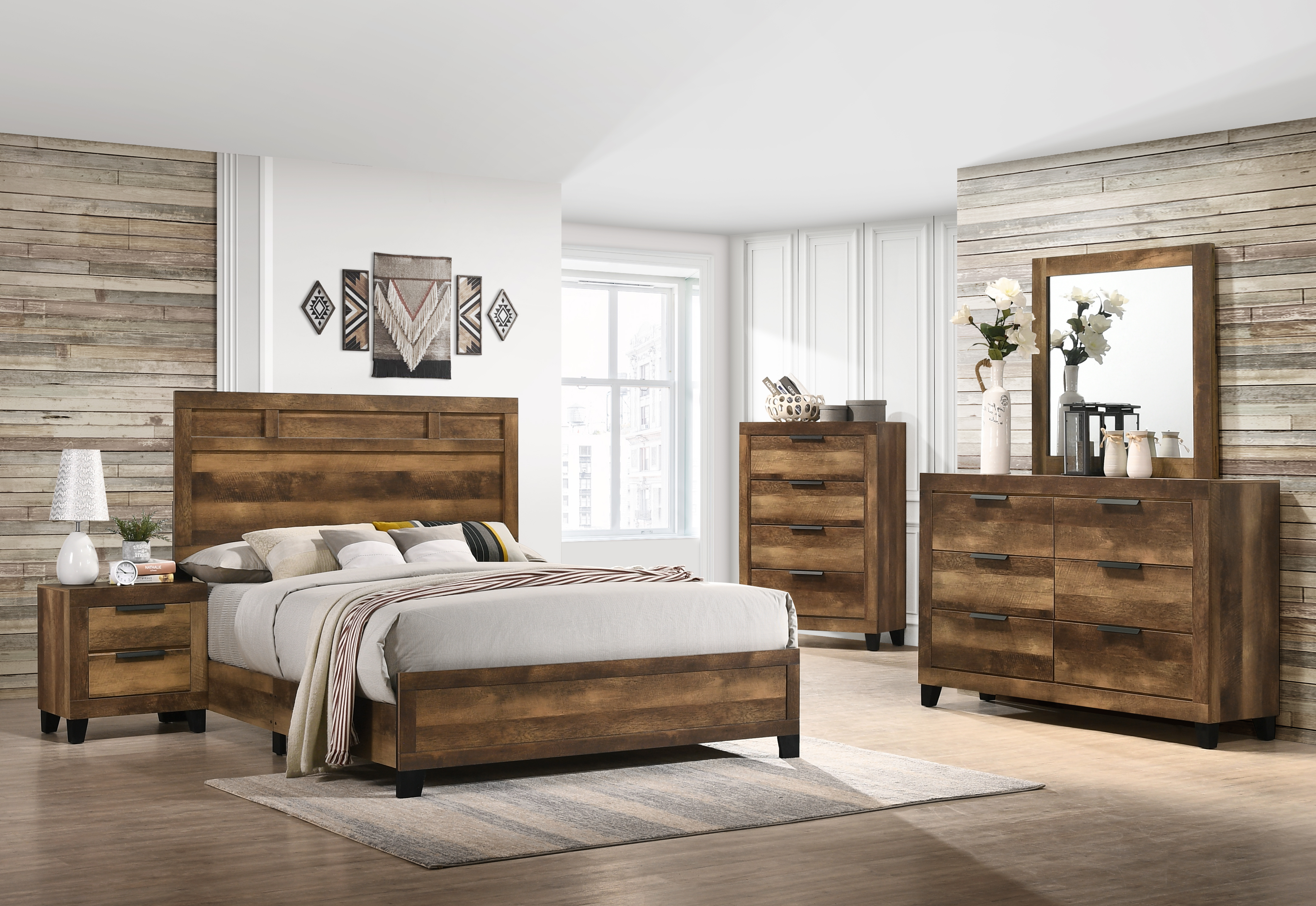 Morales King Bedroom Group by Acme Furniture at Dream Home Interiors