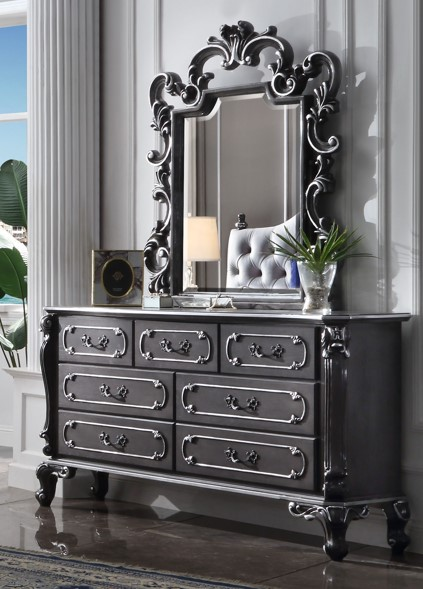 House Delphine Dresser and Mirror Set by Acme Furniture at Nassau Furniture and Mattress