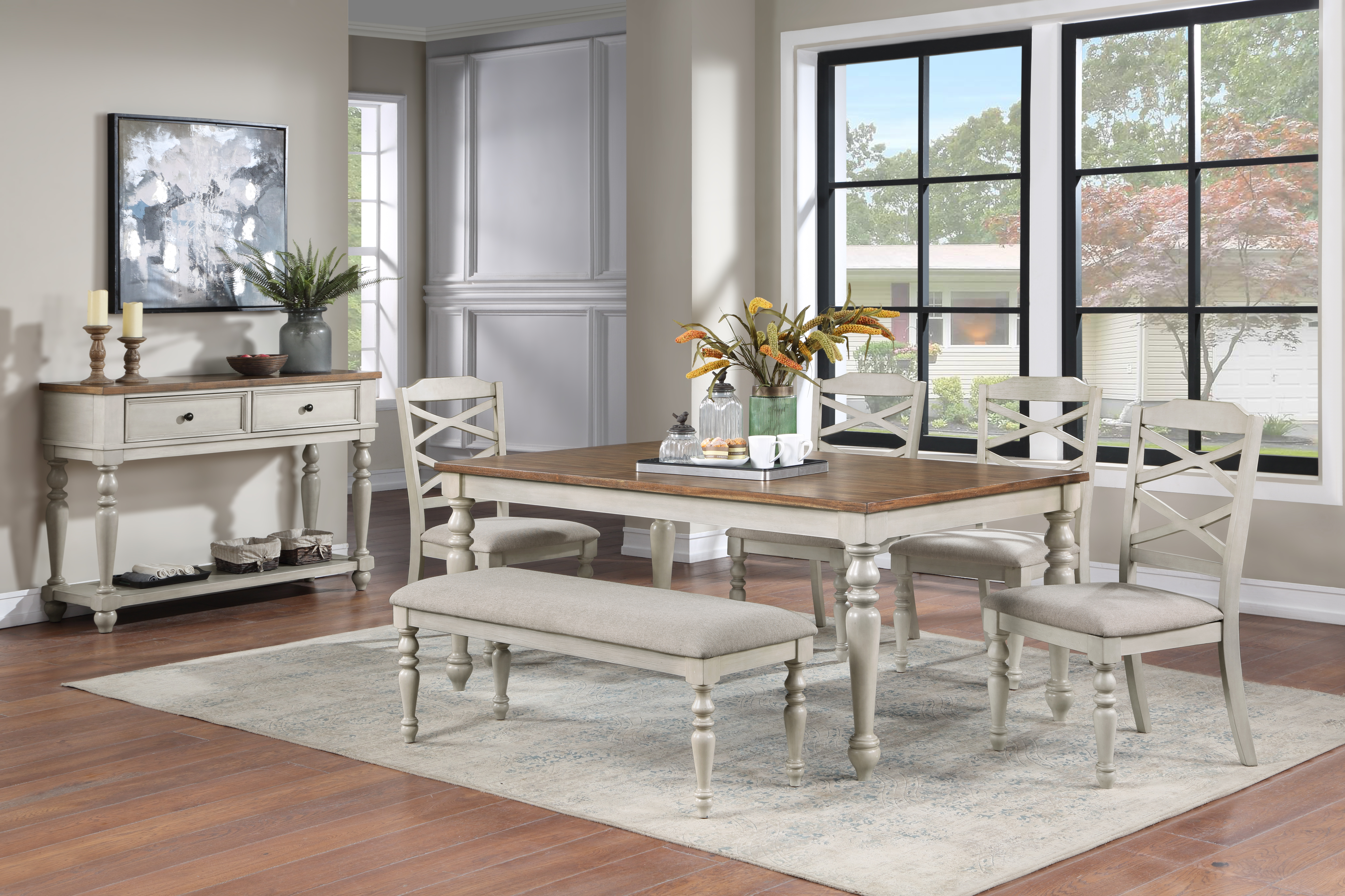 Jennifer Dining Set by New Classic at Beds N Stuff